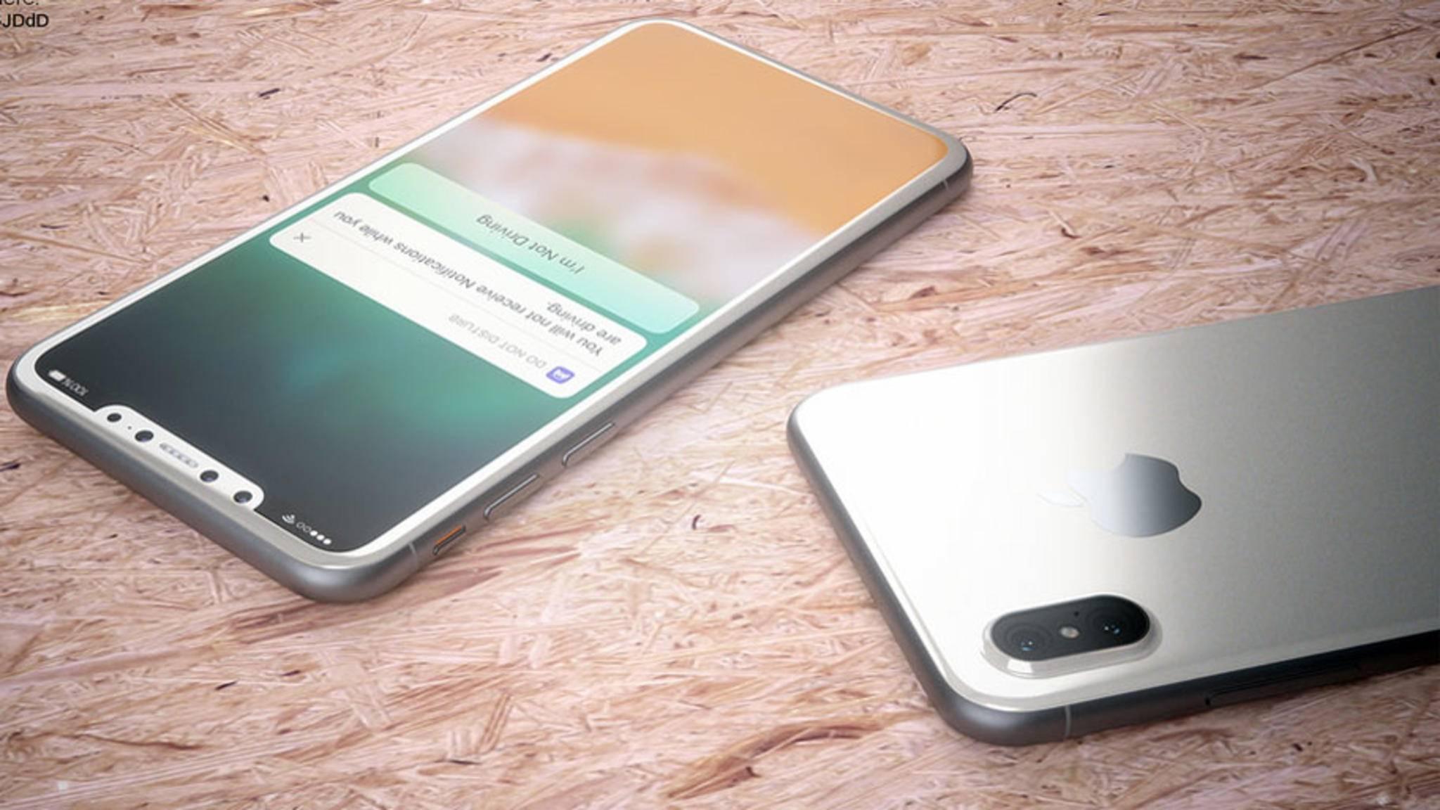Könnte erst im November massenhaft produziert werden: das iPhone 8.