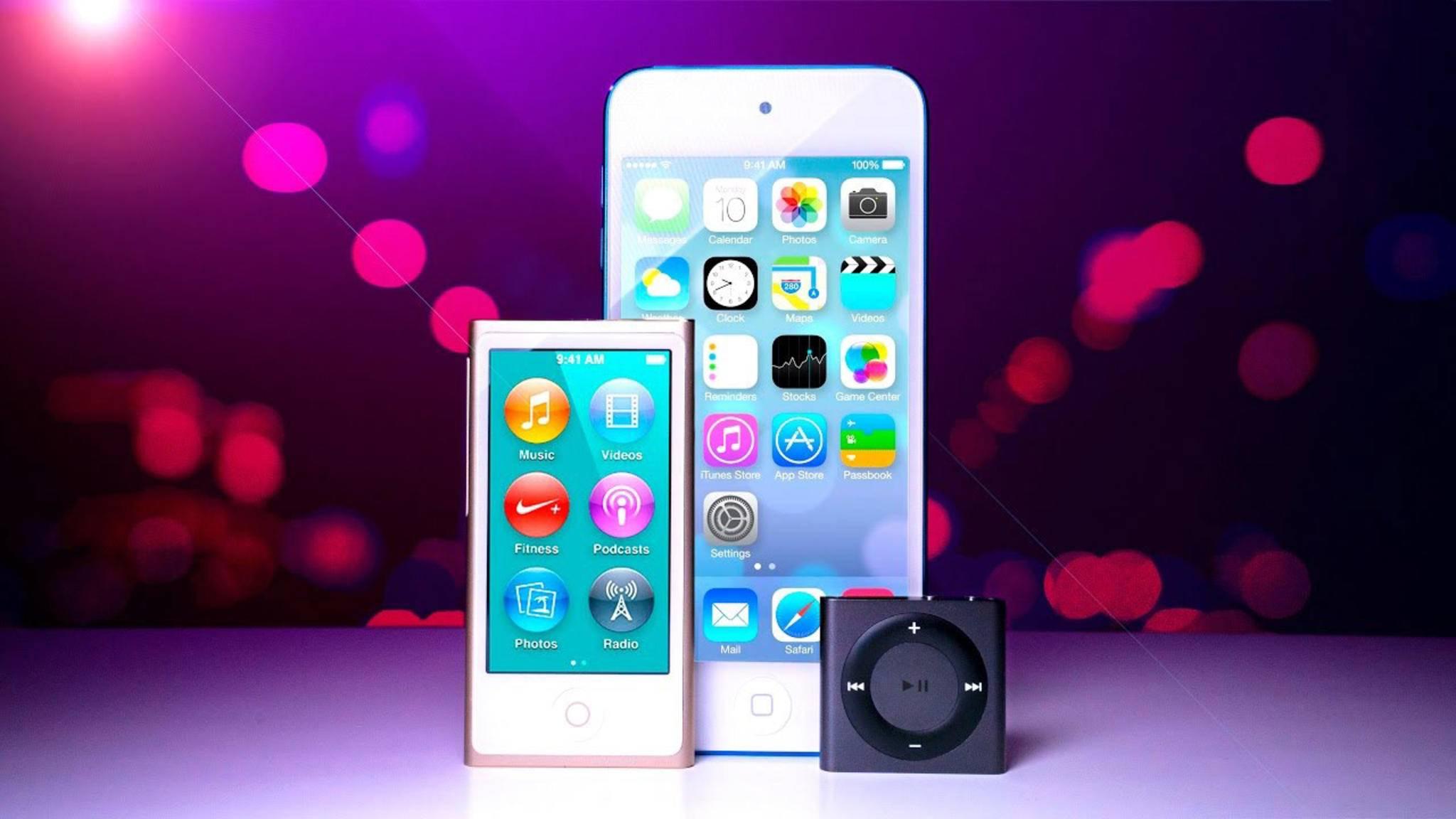 Sowohl der iPod nano als auch der iPod shuffle sind ab sofort für Apple Geschichte.