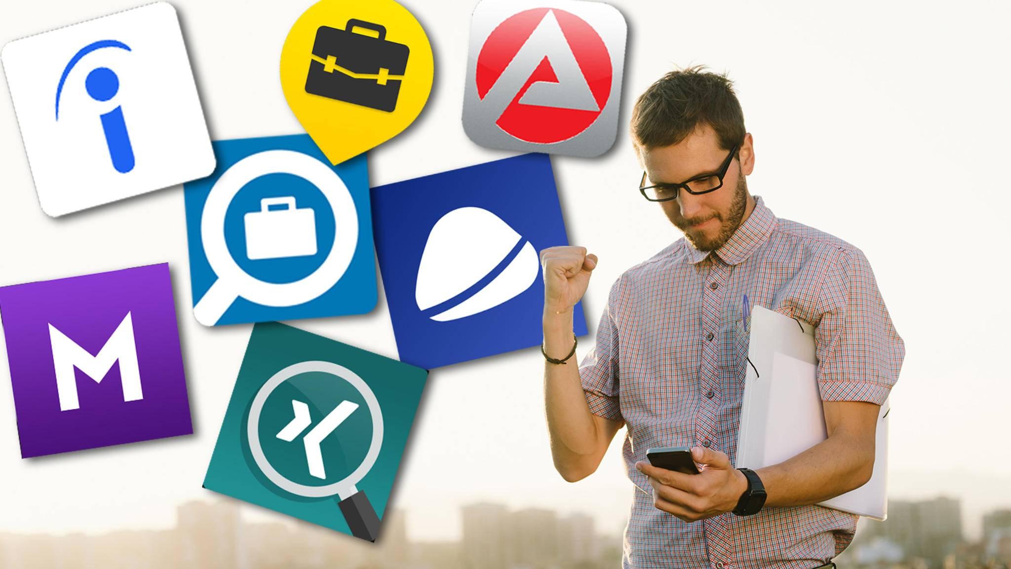 Job-Apps können bei der Stellensuche sehr hilfreich sein.