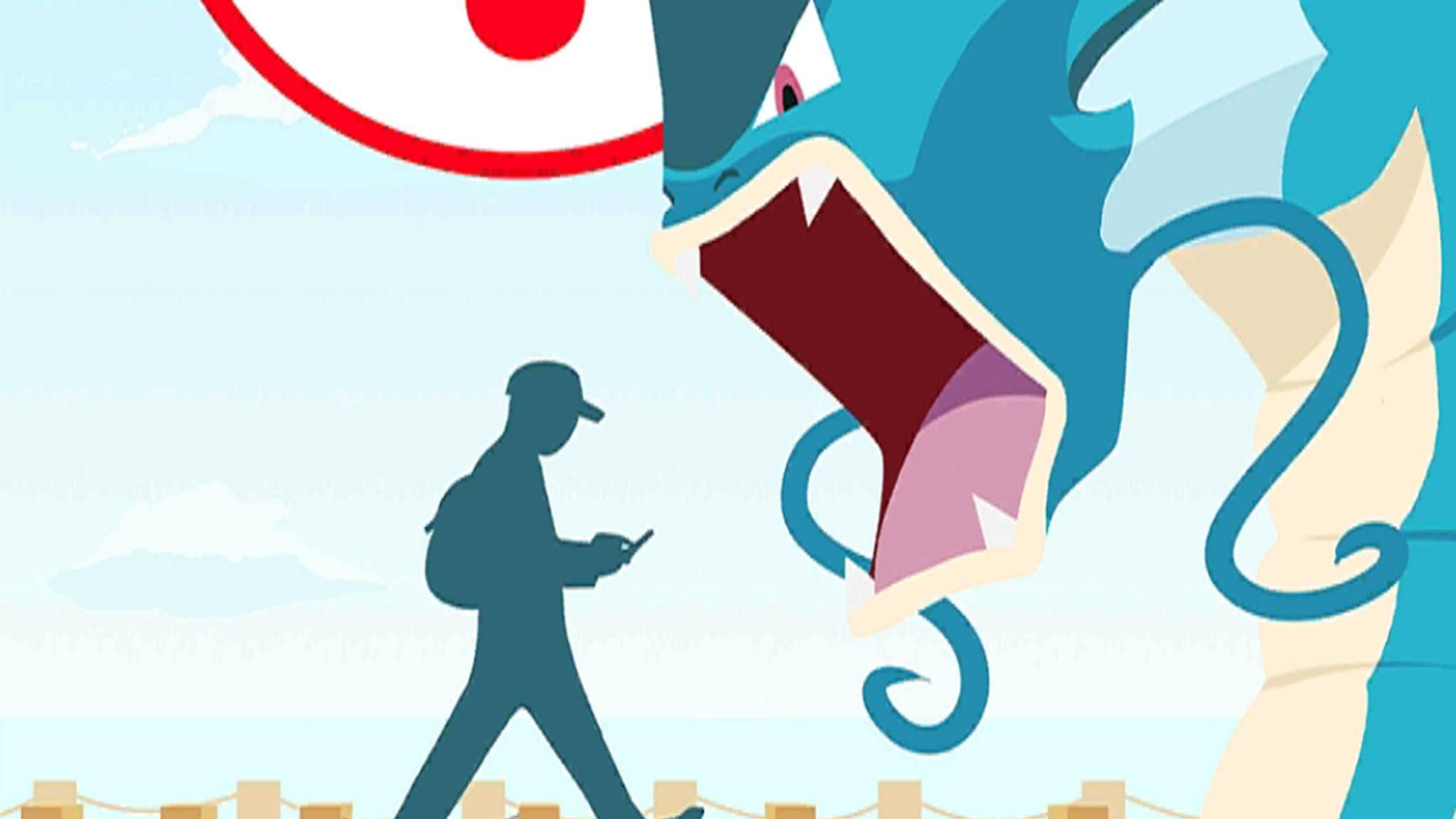 """Den großen Warnhinweis beim Spielstart von """"Pokémon Go"""" ignorieren manche Spieler einfach."""