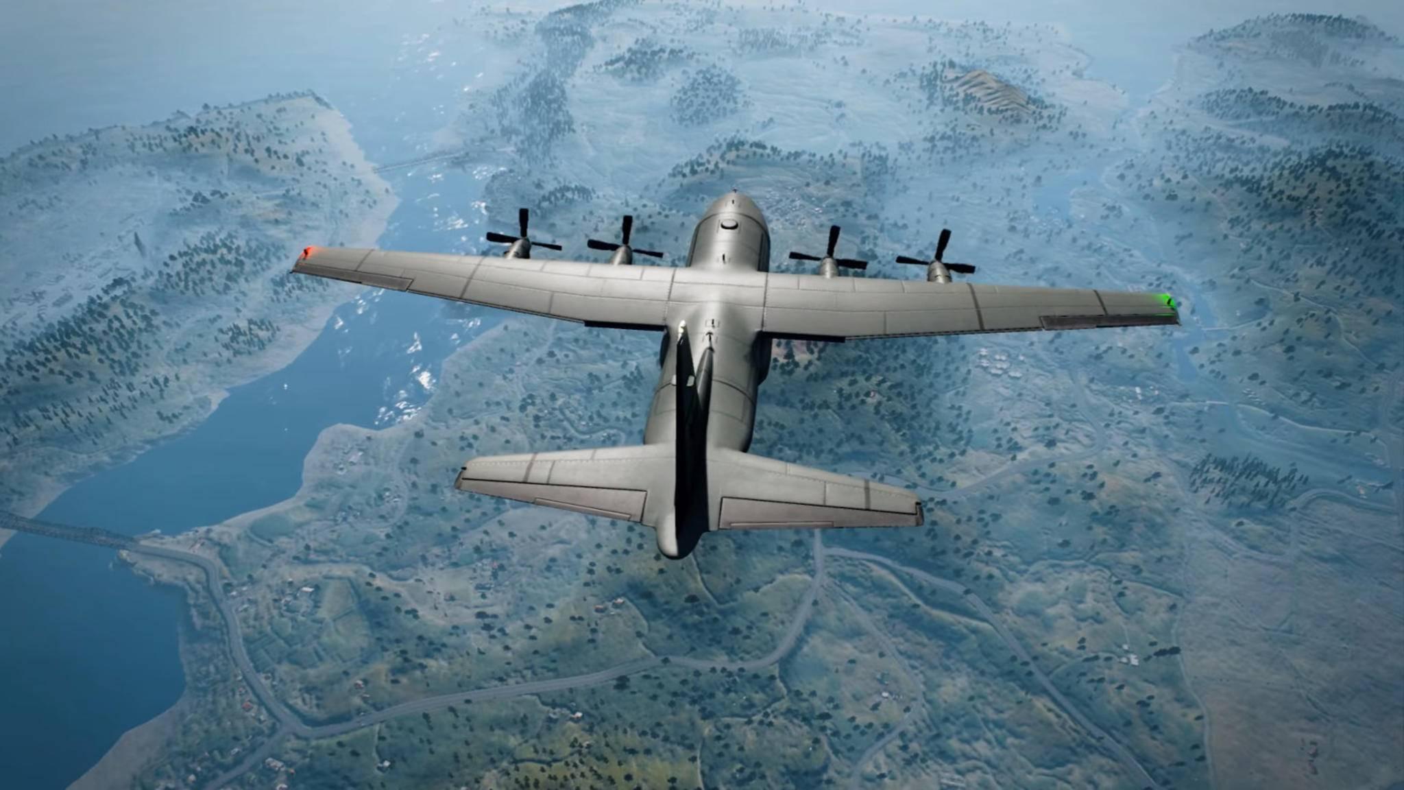 """Aus diesem Flugzeug springst Du zu Beginn einer """"Playerunknown's Battlegrounds""""-Runde auf die Insel."""