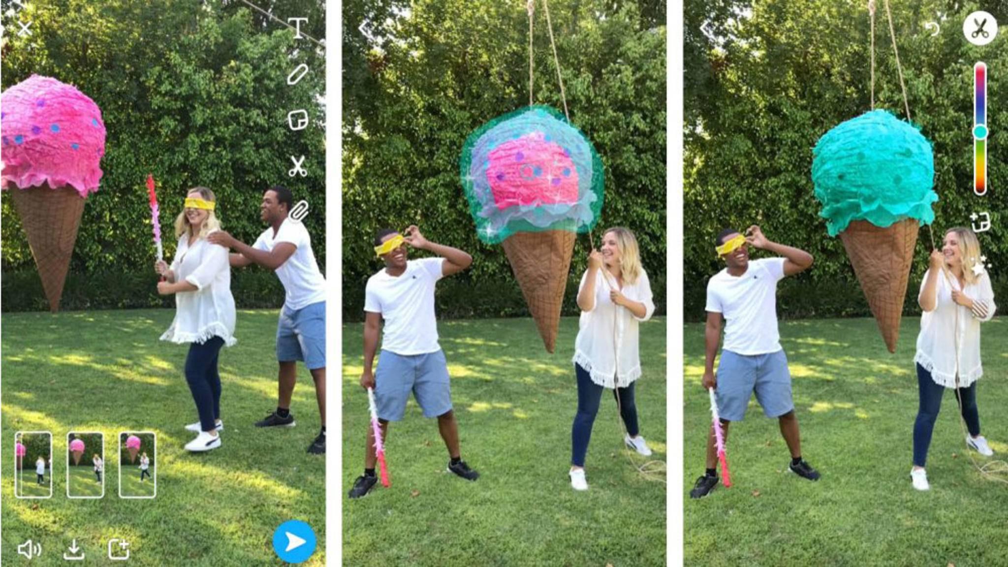 Multi-Snaps und neue Bürste für mehr Farbvielfalt: Snapchat hat ein Update erhalten.