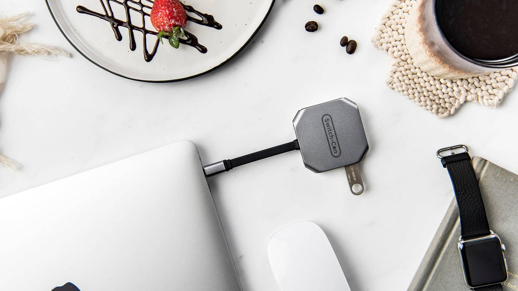 ... der USB-C-Anschluss überträgt auch Videosignale, wobei ...