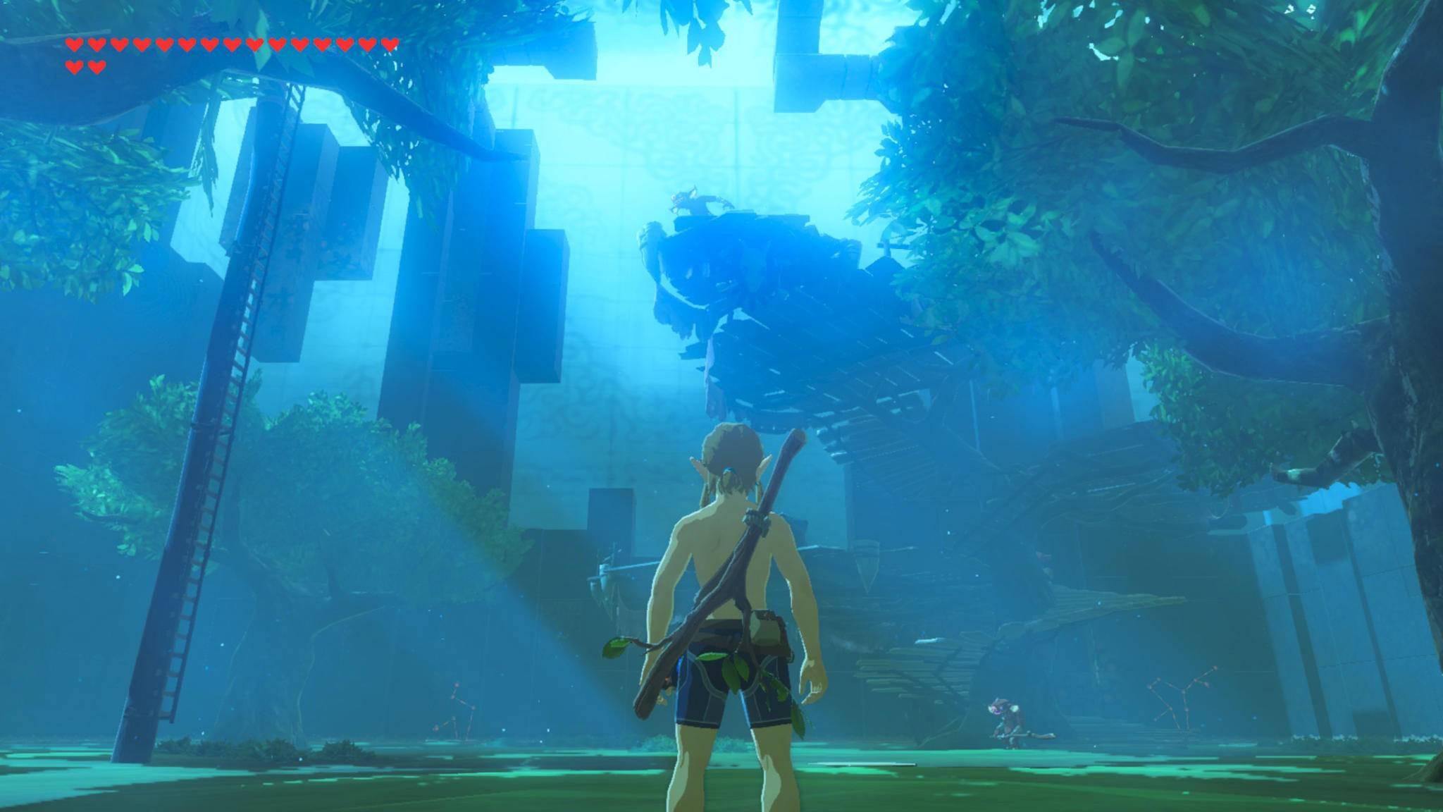 """Den DLC """"Die Prüfung des Schwertes"""" beginnt Link fast nackt."""