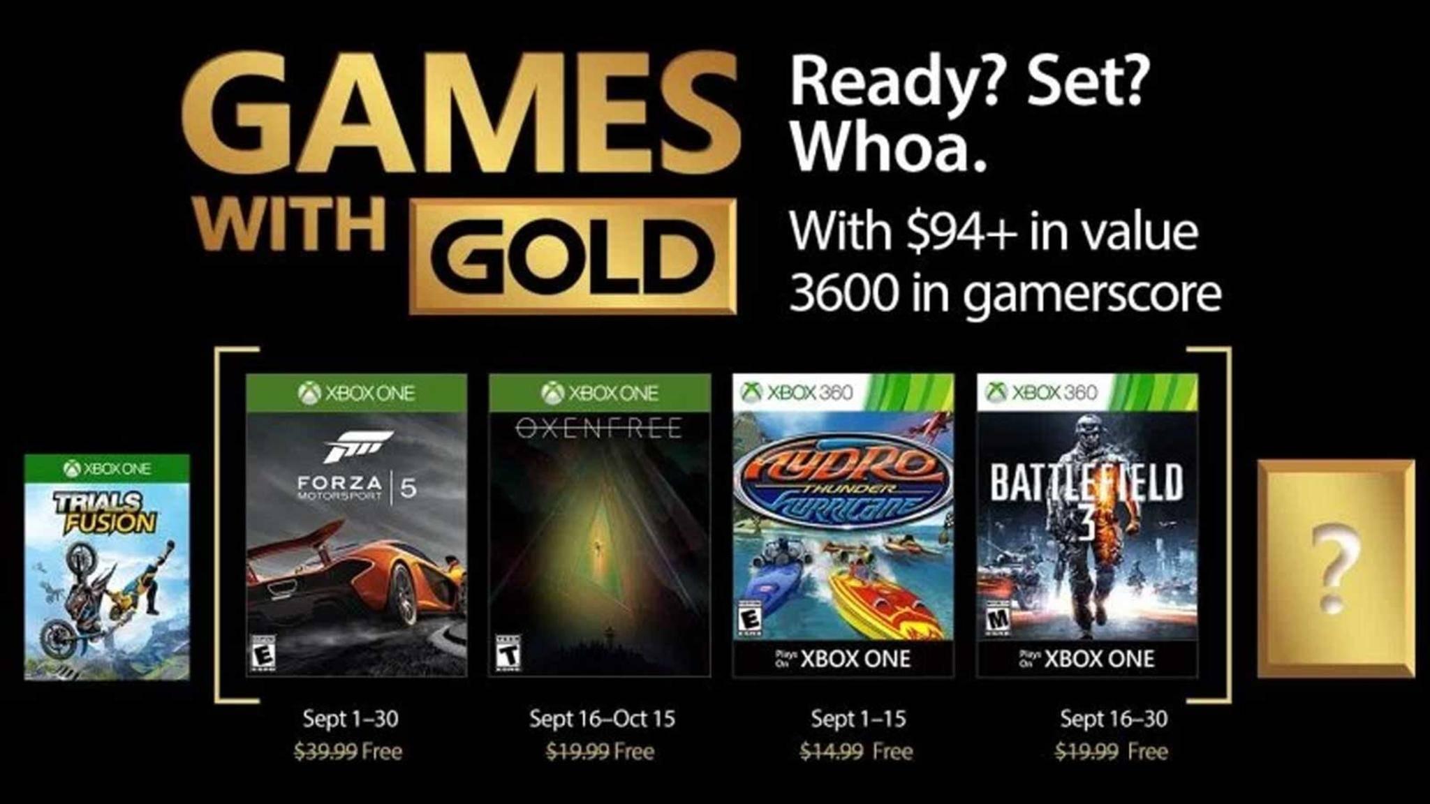 Xbox Gold September