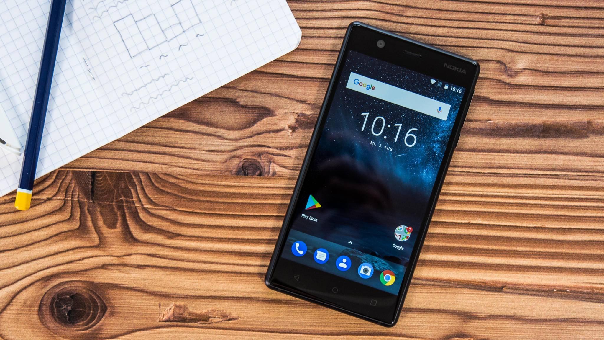 Auch das Nokia 3 wird mit Android 9.0 Pie ausgestattet.