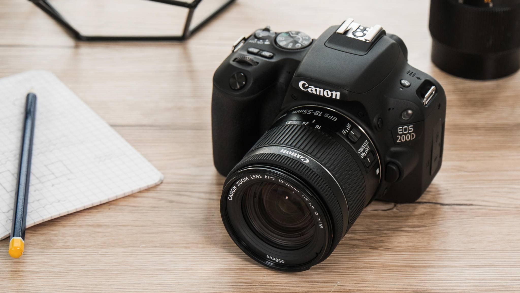 Die EOS 200D gehört ebenfalls zu den angreifbaren Kameras von Canon.