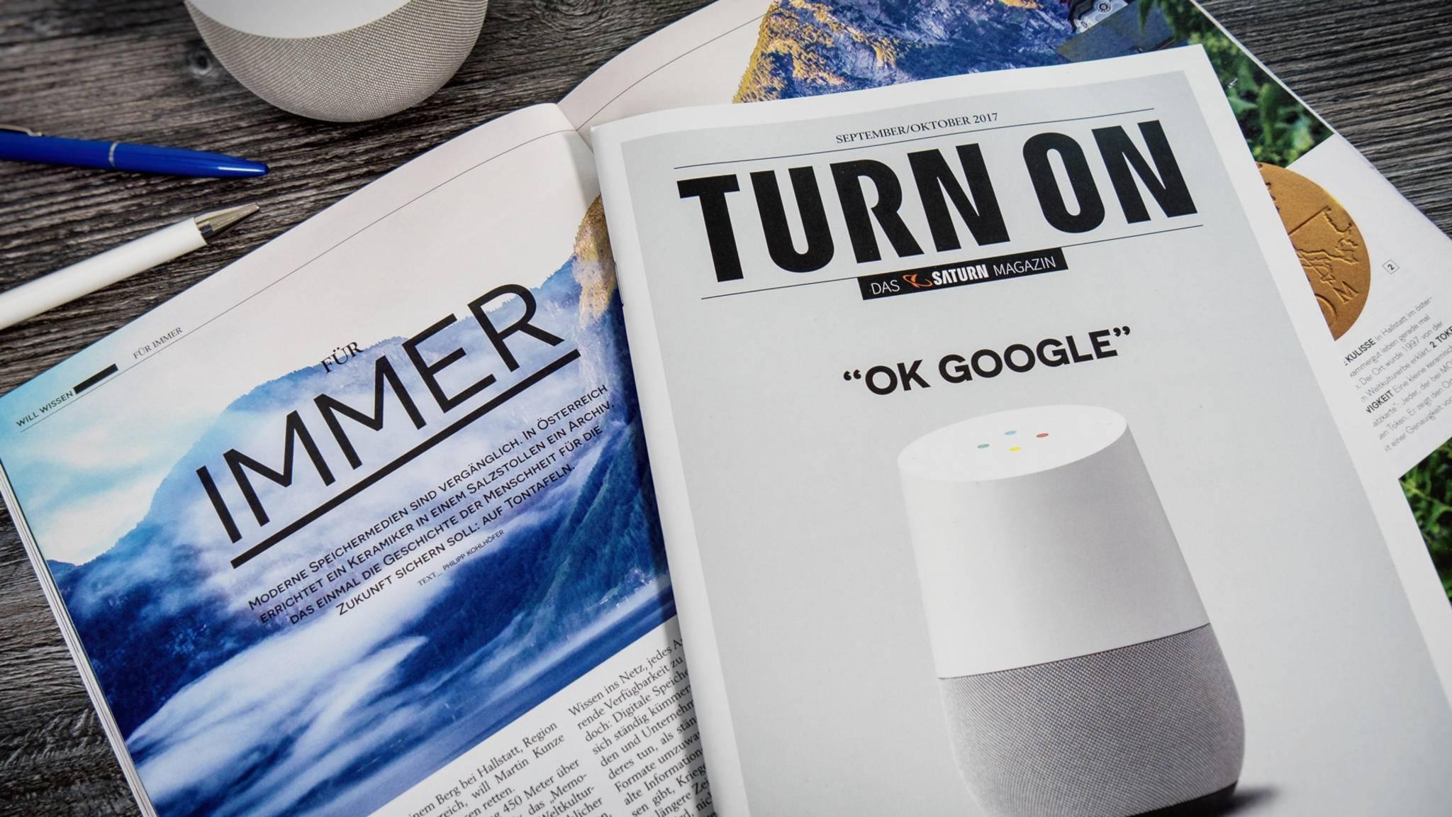 Das TURN ON Magazin 05/2017 stellt Google Home vor.