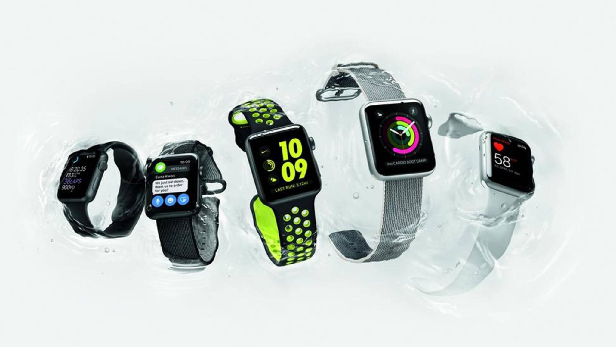 Nachrichten empfangen und direkt beantworten? Für die Apple Watch Series 2 kein Problem.