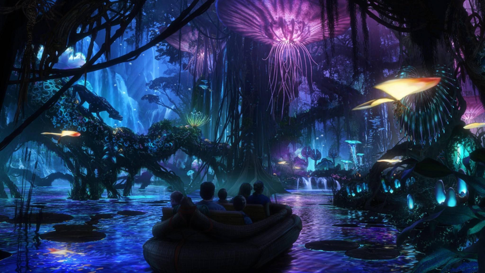 """Im Disney World in Florida wurde die Welt aus """"Avatar"""" aufwendig zum Leben erweckt."""