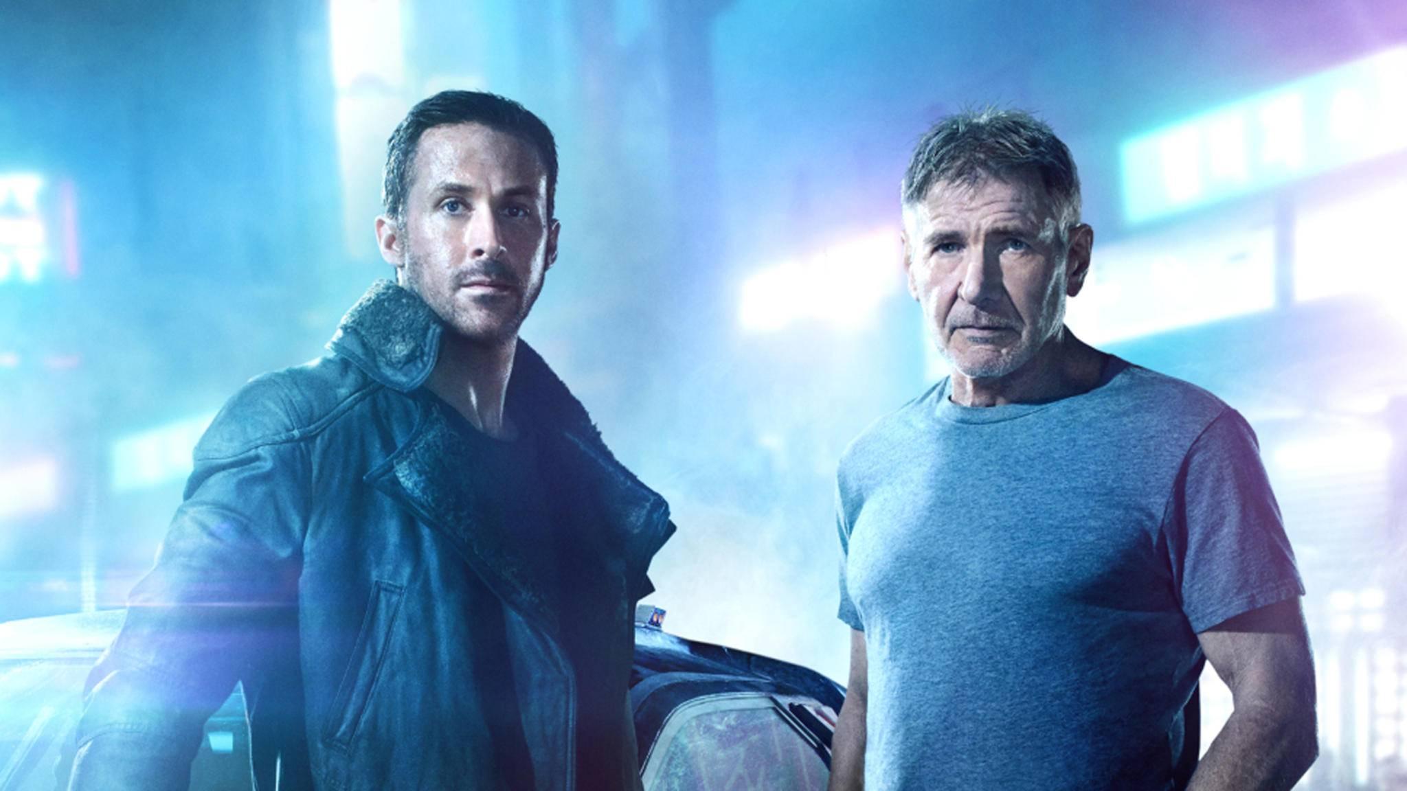 """Ryan Gosling (l.) und Harrison Ford (r.) ist das neue Doppelgespann in """"Blade Runner 2049""""."""