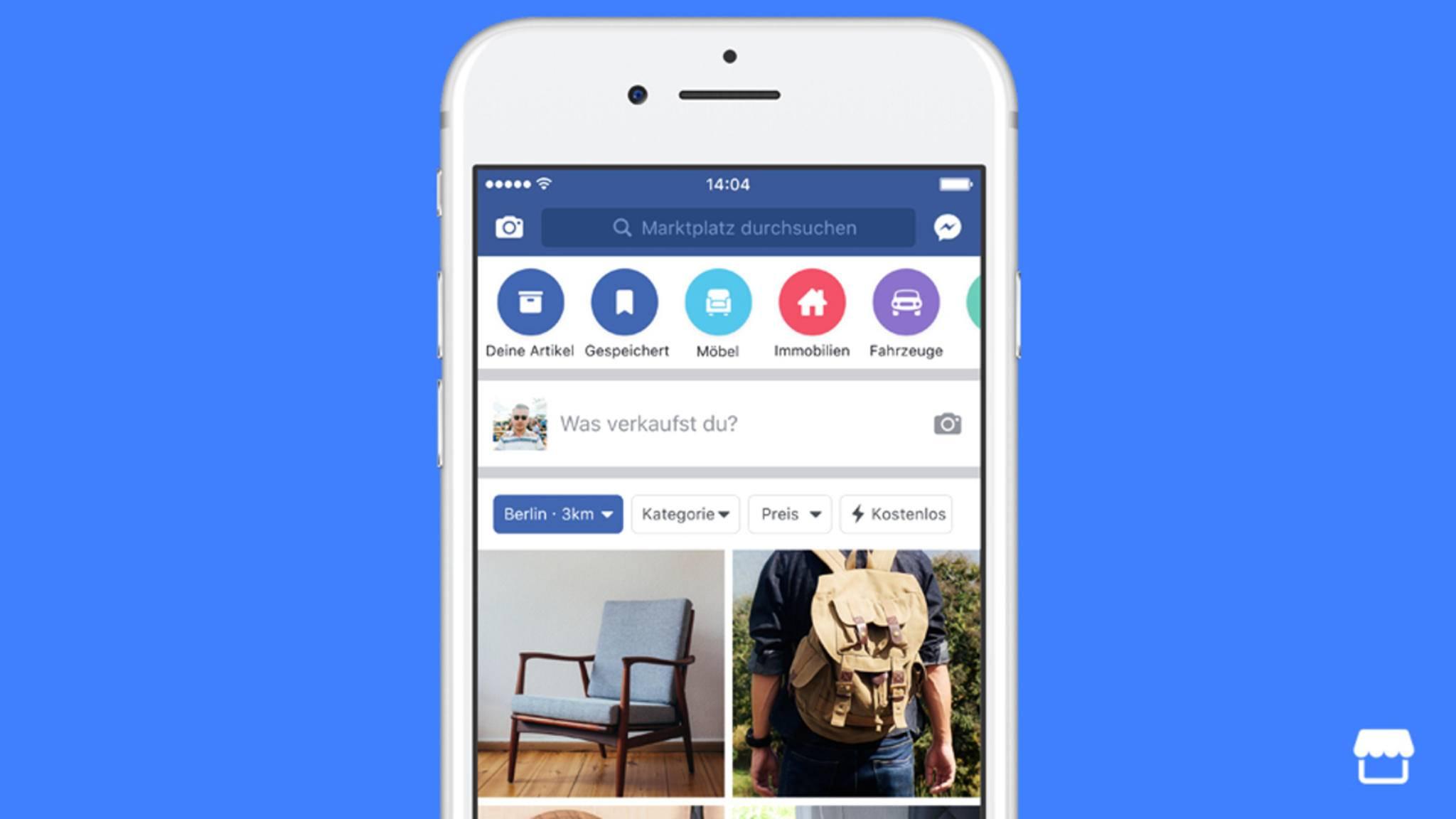 Der Facebook-Flohmarkt Marketplace ist jetzt auch in Deutschland verfügbar.