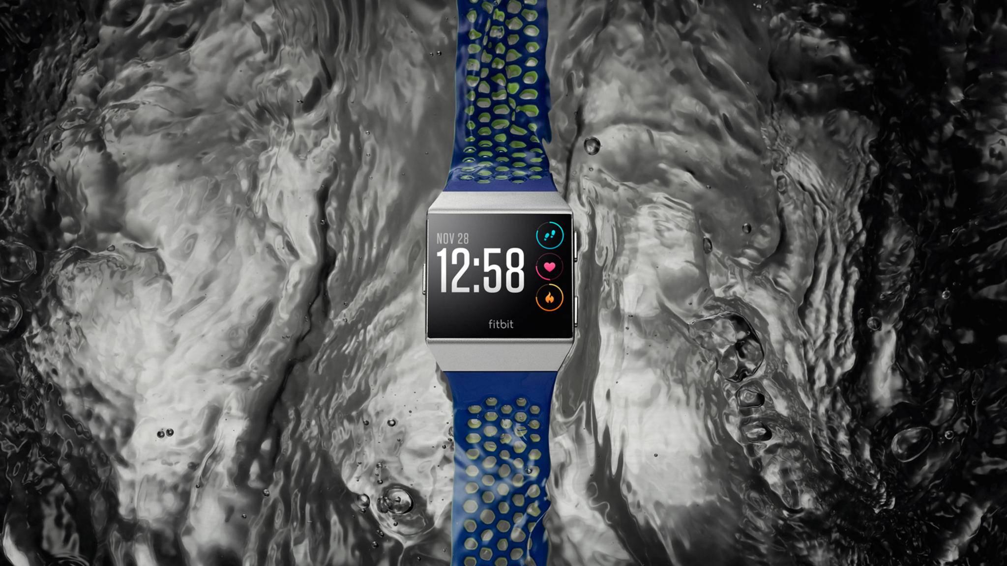 So sieht die neue Smartwatch von Fitbit aus: Fitbit Ionic.