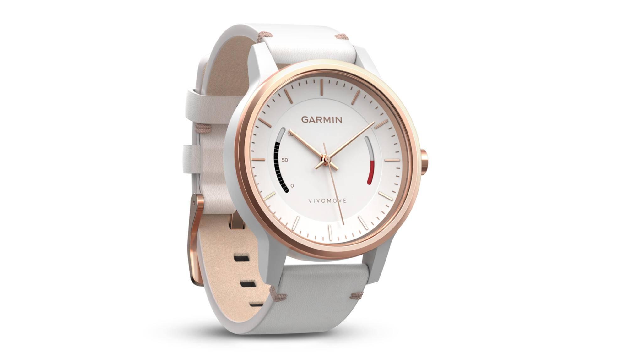 Die Garmin Vivomove HR soll an die Vivomove (Bild) aus dem Jahr 2016 angelehnt sein – hat jedoch offenbar den entscheidenden Schritt in Richtung Smartwatch getan.
