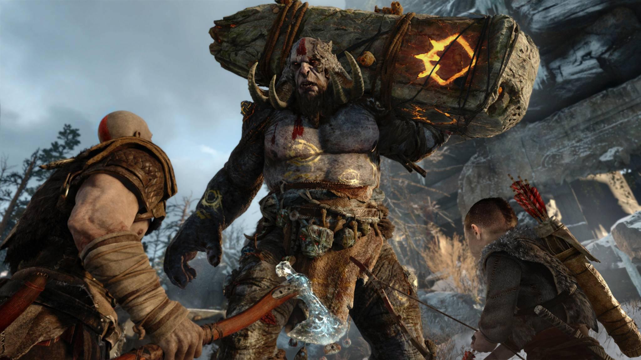 """Die Trolle in """"God of War"""" sind groß – aber im Vergleich zu den Giganten der Vorgängerspiele doch eher mickrig."""