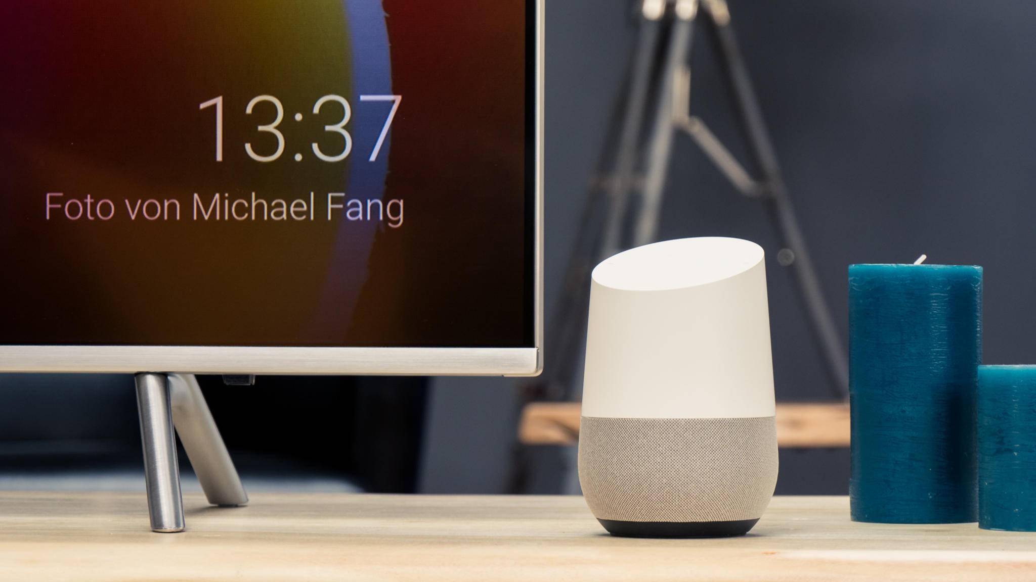 Display und Lautsprecher könnten bei Google künftig zu einem Gerät verschmelzen.