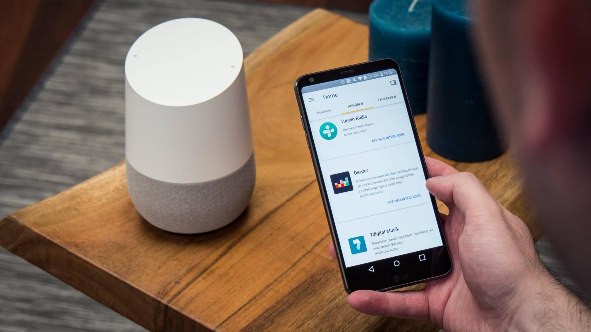 Google Home bekommt eine männliche Stimme.