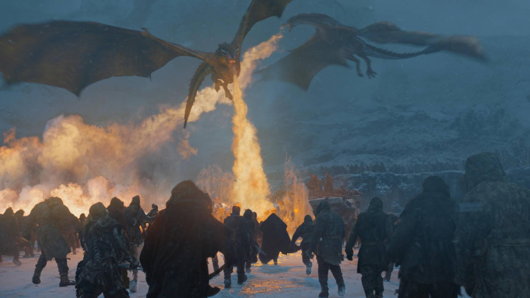 """Der Traum eines jeden """"Game of Thrones""""-Fans: Drachen gegen Weiße Wanderer."""