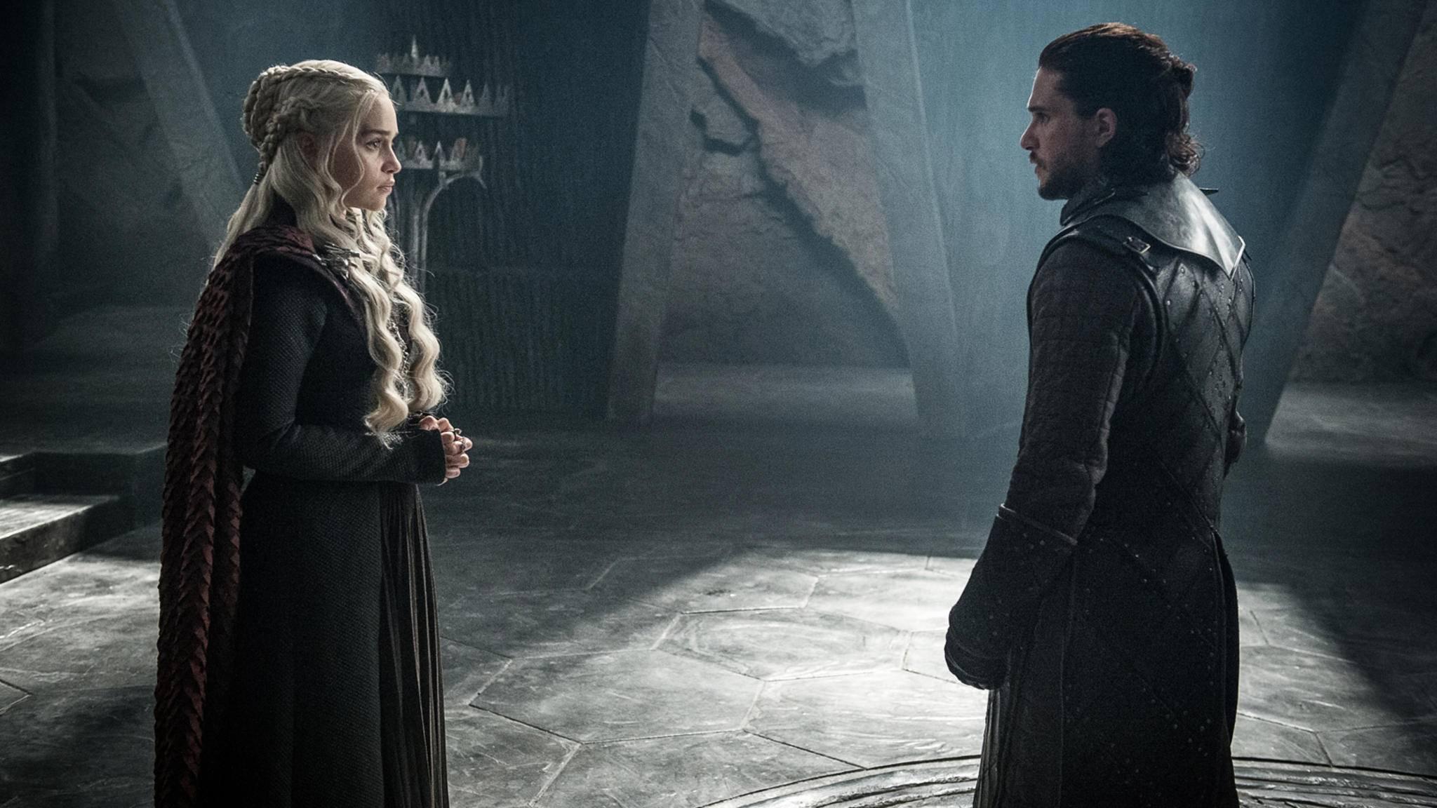 Drachen und Wölfe unter sich: Daenerys Targaryen und Jon Snow.