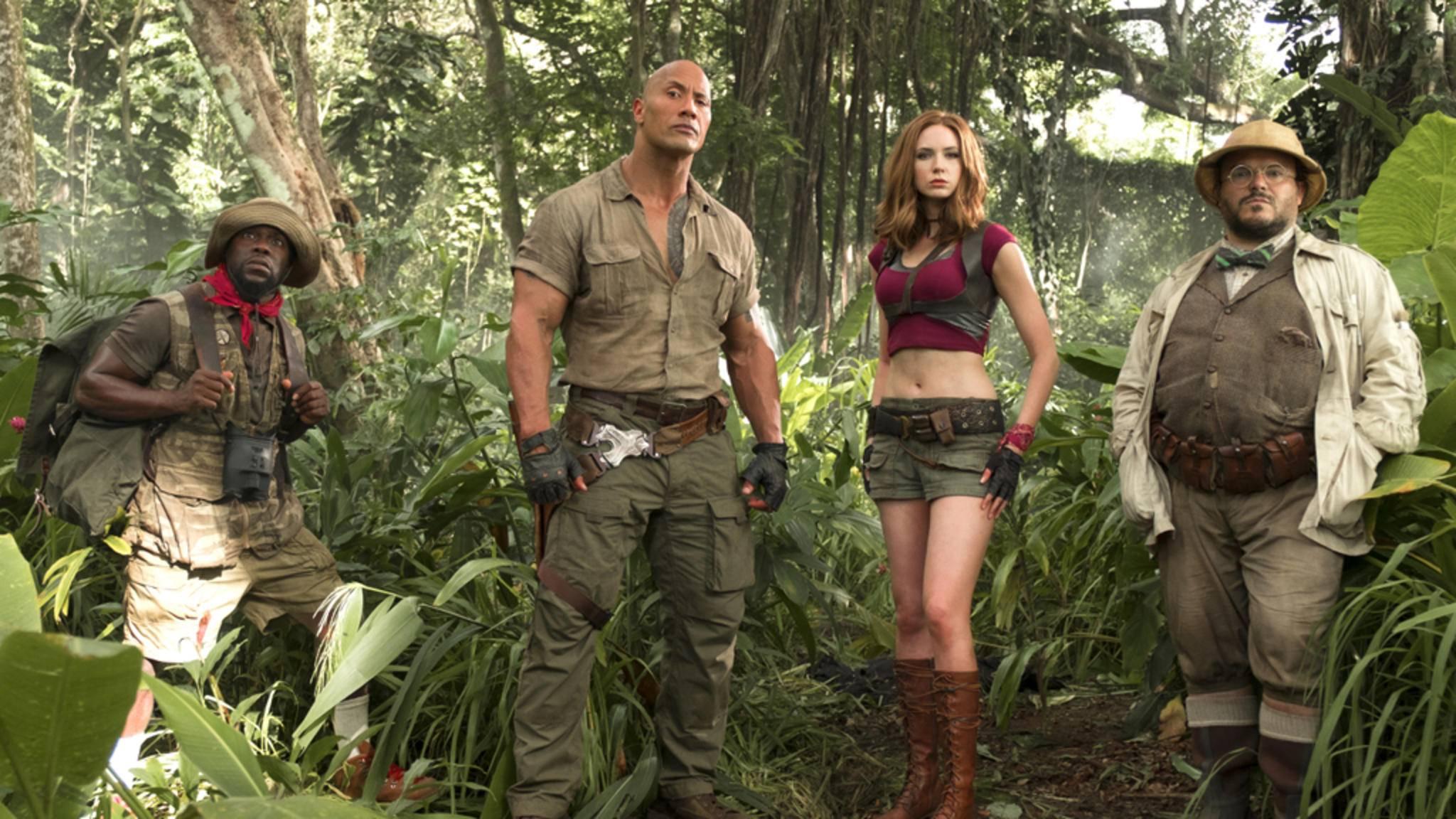 """Blockbuster-Entertainment wie aus dem Lehrbuch erwartet Kinogänger in """"Jumanji: Willkommen im Dschungel""""."""