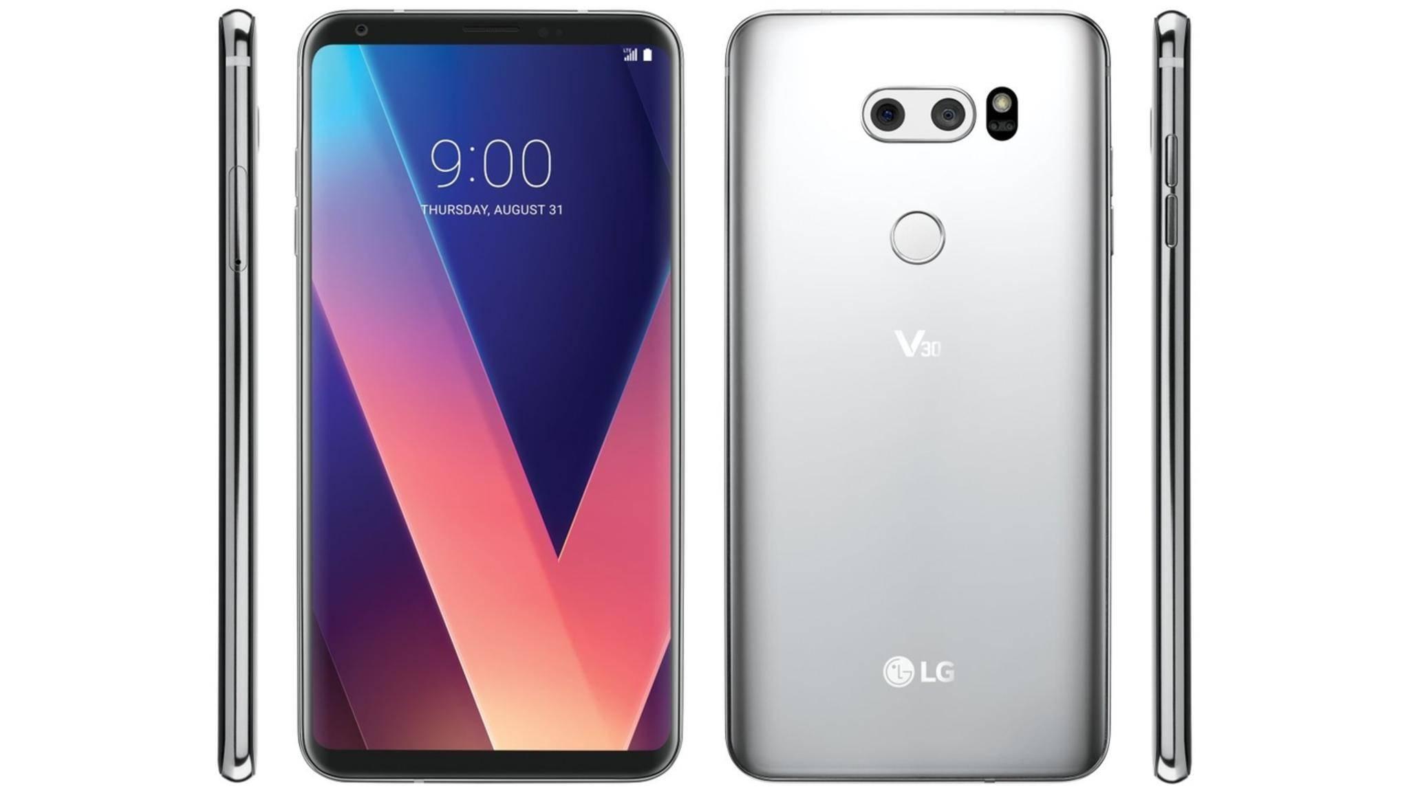Beim LG V30 ist der kapazitive Fingerabdrucksensor auf der Rückseite angebracht.