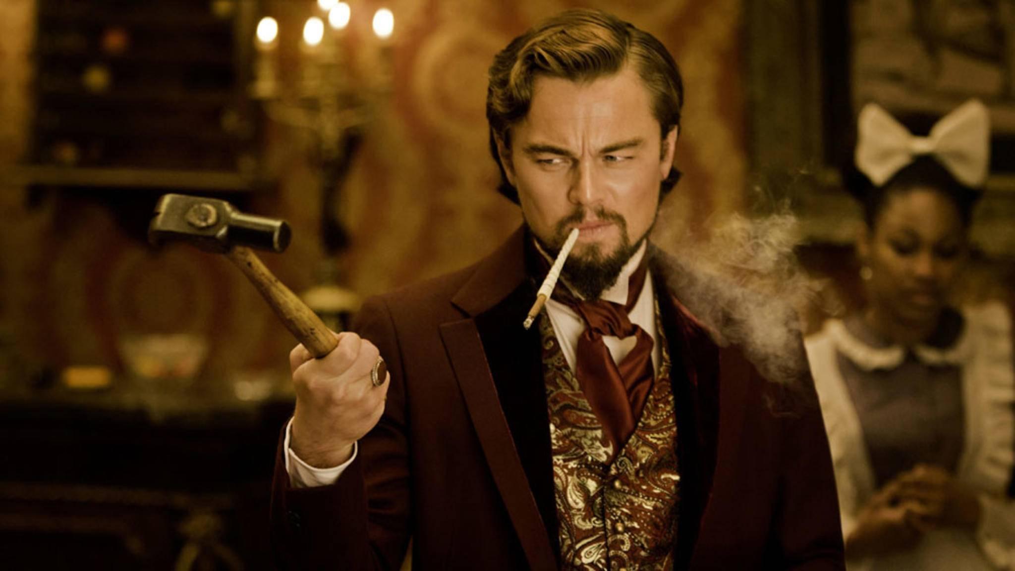 """Leonardo DiCaprio erschütterte seine Co-Aktrice in """"Django Unchained"""" mit einer blutigen Improvisation."""