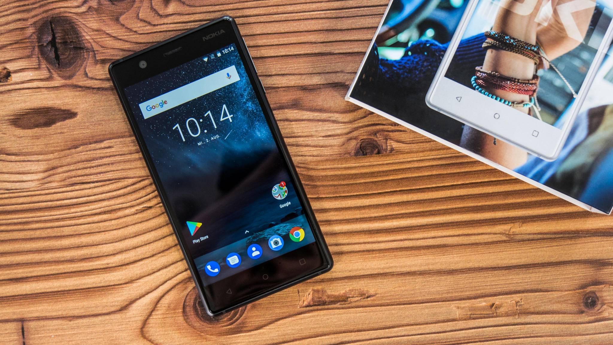 Das Nokia 3 möchte mit einem edlen Design in der Einsteigerklasse punkten.