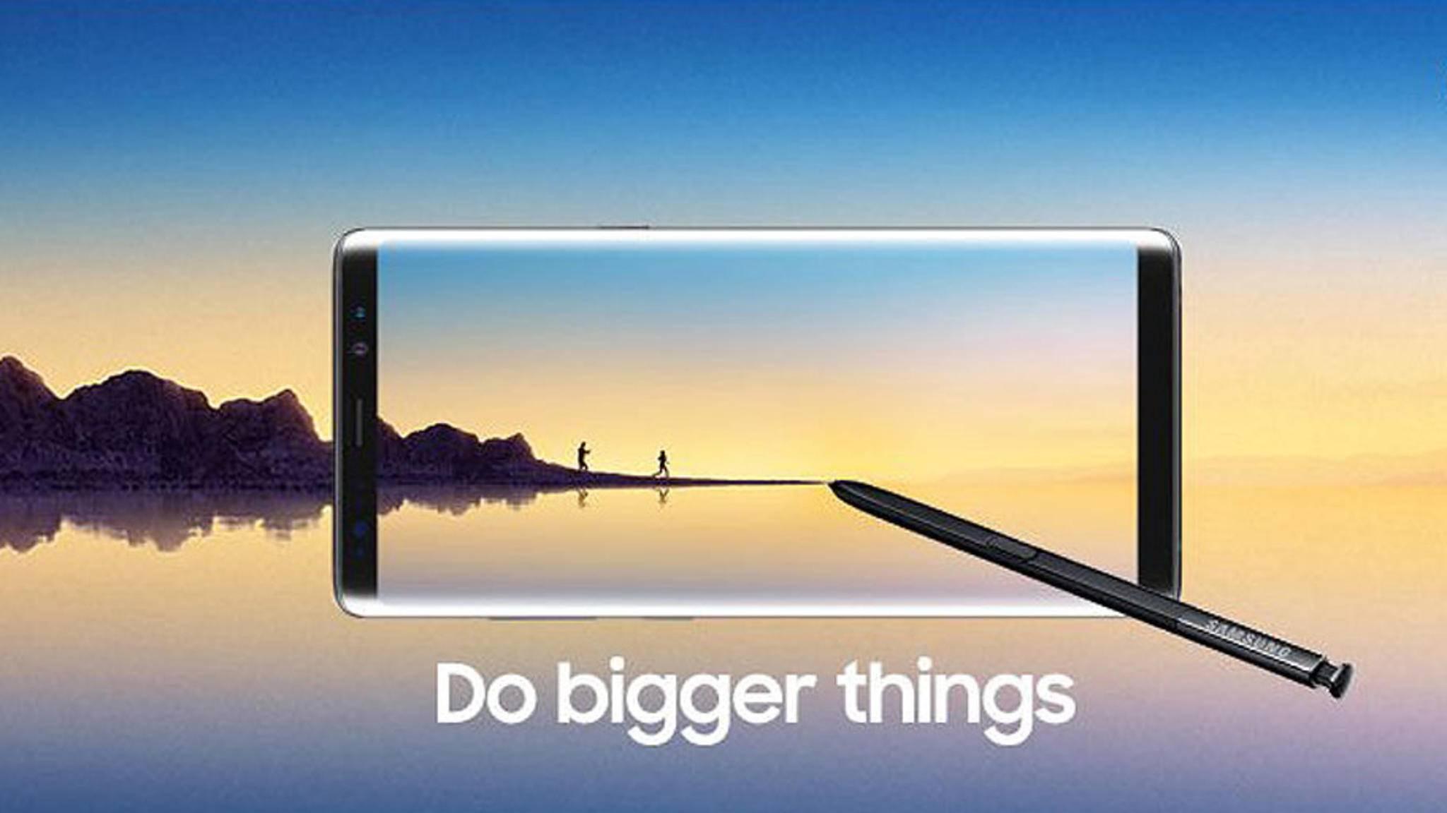 Mit diesem Bild will Samsung das Galaxy Note 8 angeblich bewerben.