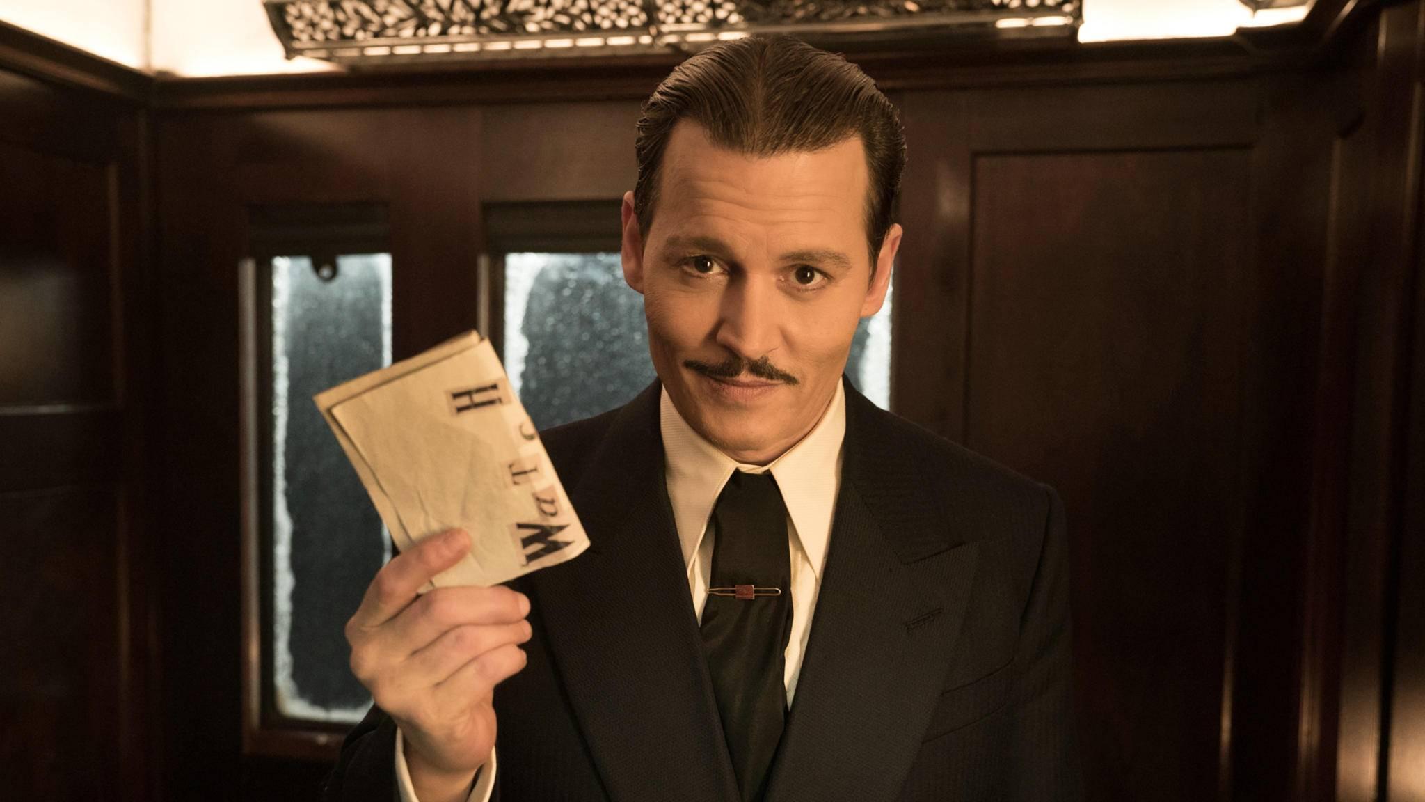 """Anders als Johnny Depps übliche Rollen ist Mr. Ratchett in """"Mord im Orient-Express"""" alles andere als ein Sympathieträger."""