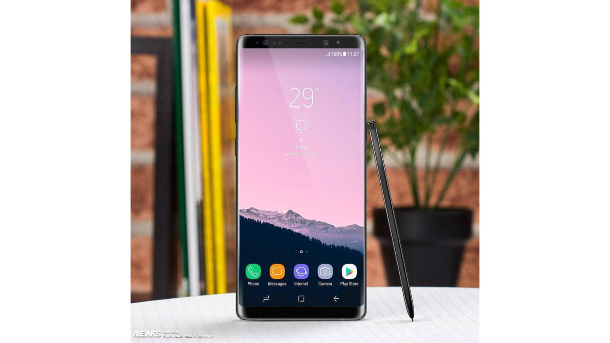 Samsung teasert Kamera und Stift des Galaxy Note 8 an.