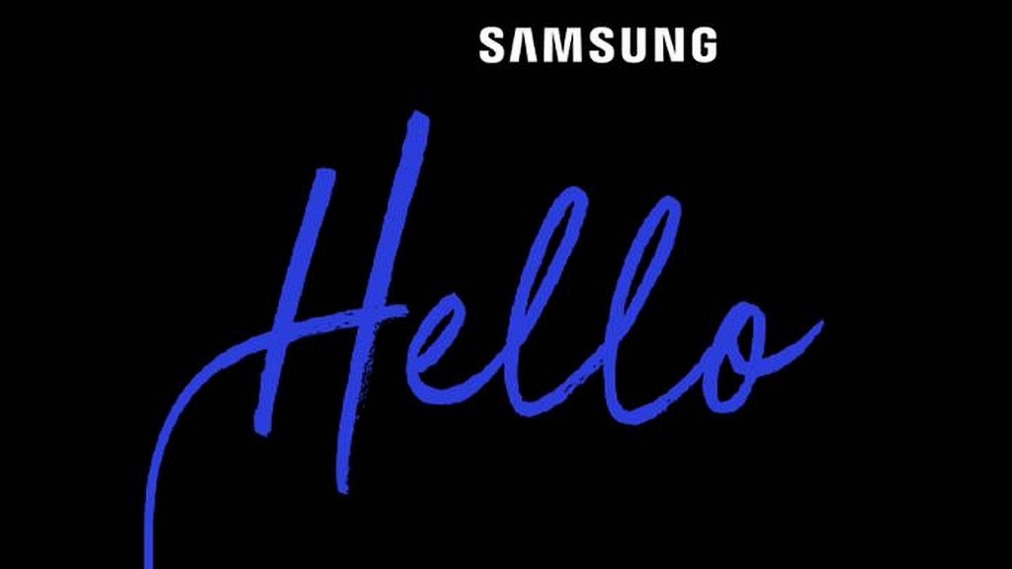 Samsung lädt zu einem Event am Mittwoch ein.