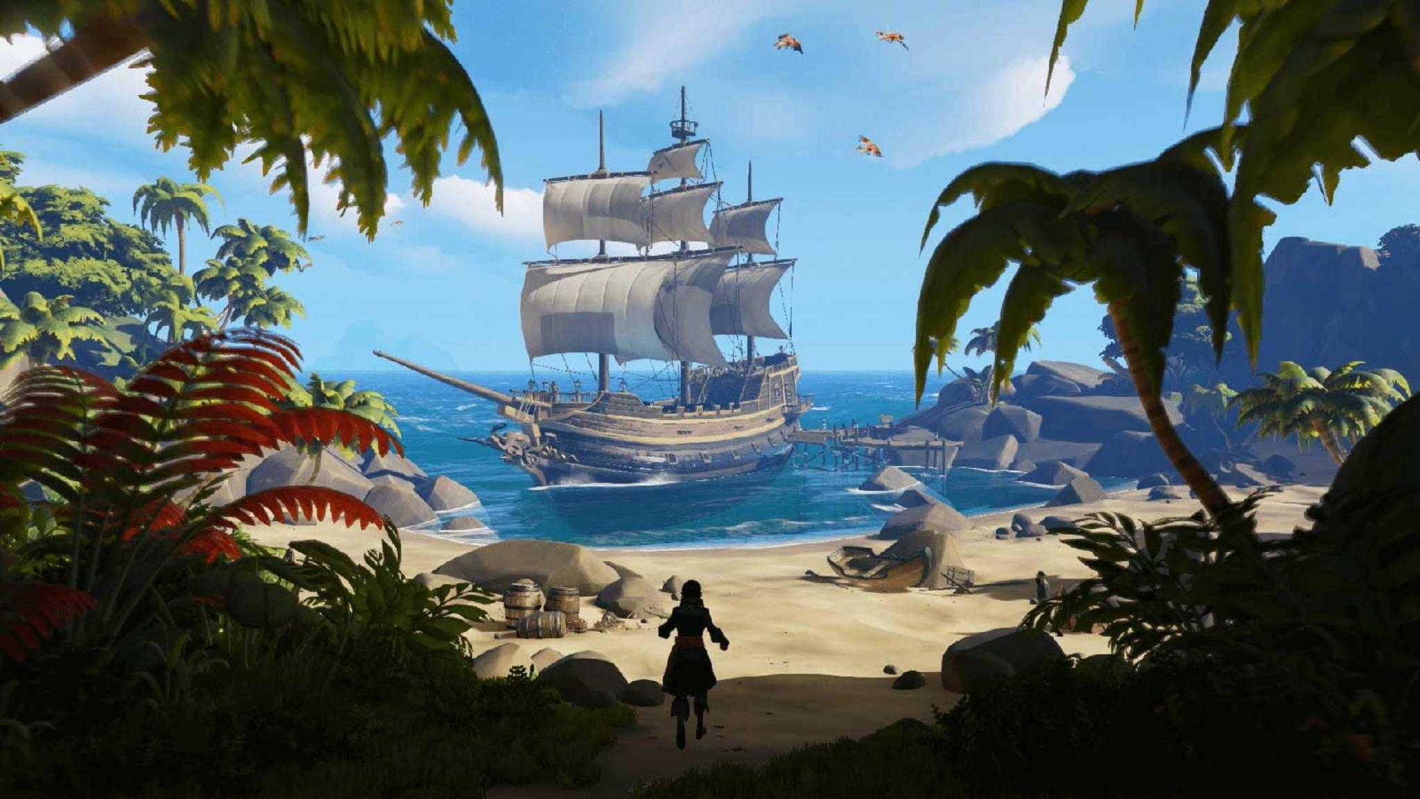 """In """"Sea of Thieves"""" machst Du online als Pirat Karriere."""