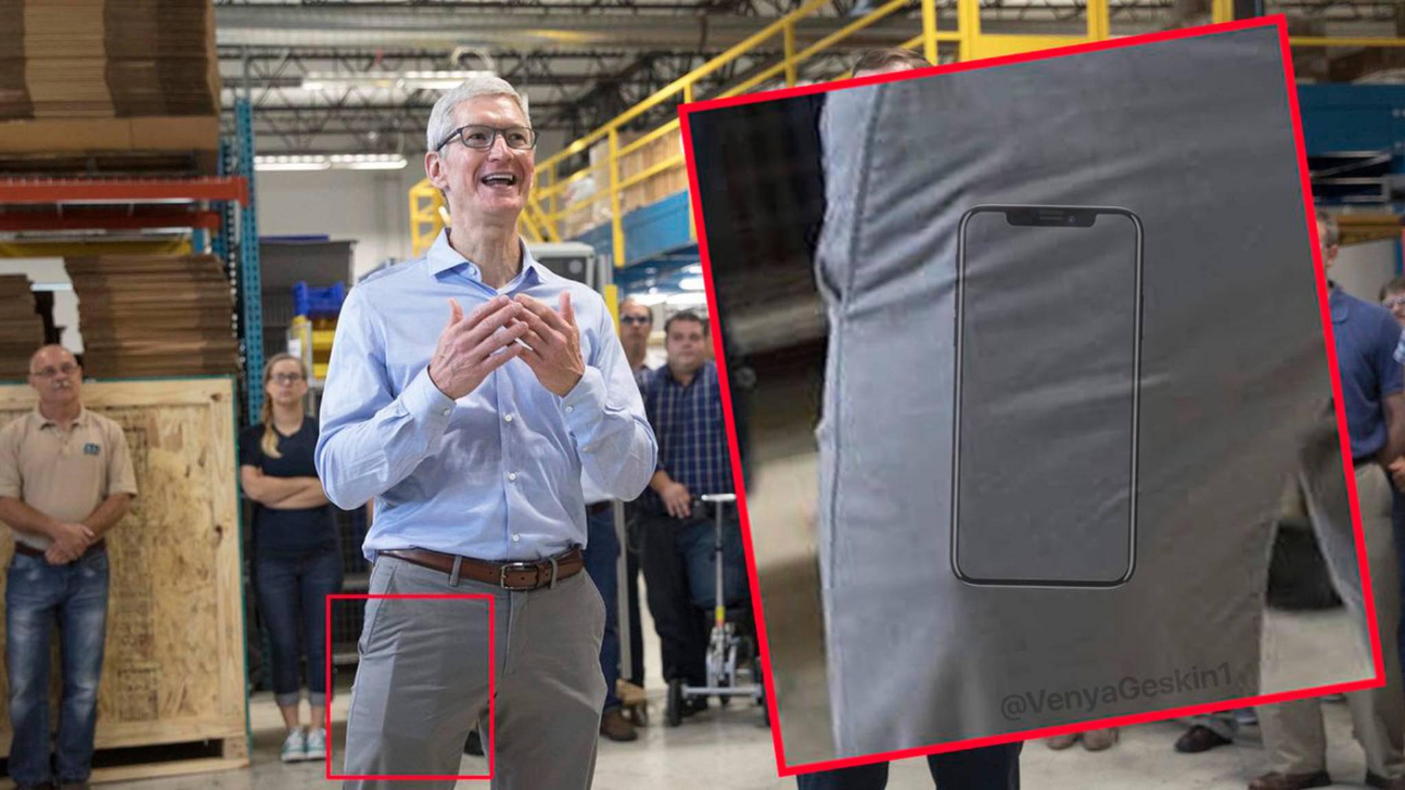 Trägt Tim Cook bereits ein iPhone 8 spazieren?