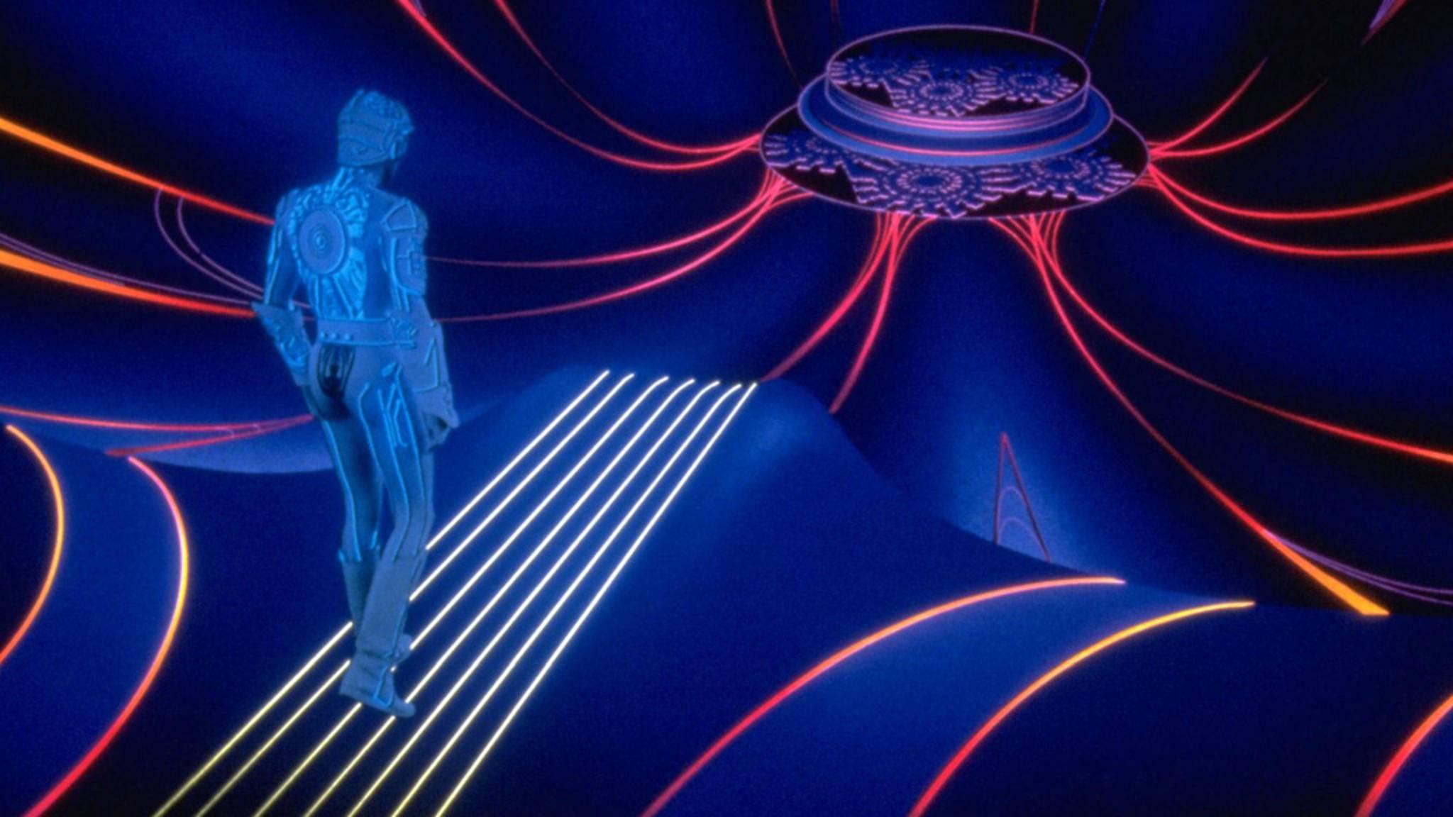 """Mittels VR in die bunte Cyber-Welt aus """"Tron"""" abtauchen – davon träumt Schauspieler Jeff Bridges."""