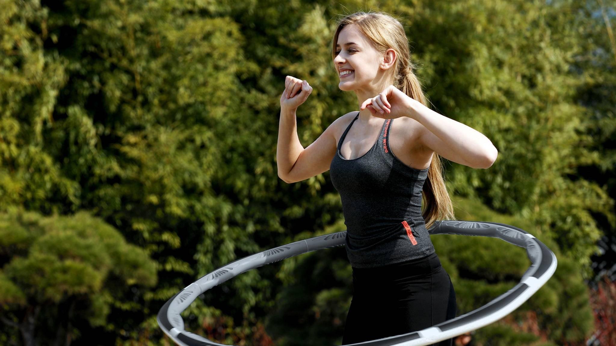 Dank Vernetzung wird der Hula-Hoop zum persönlichen Fitnesstrainer.