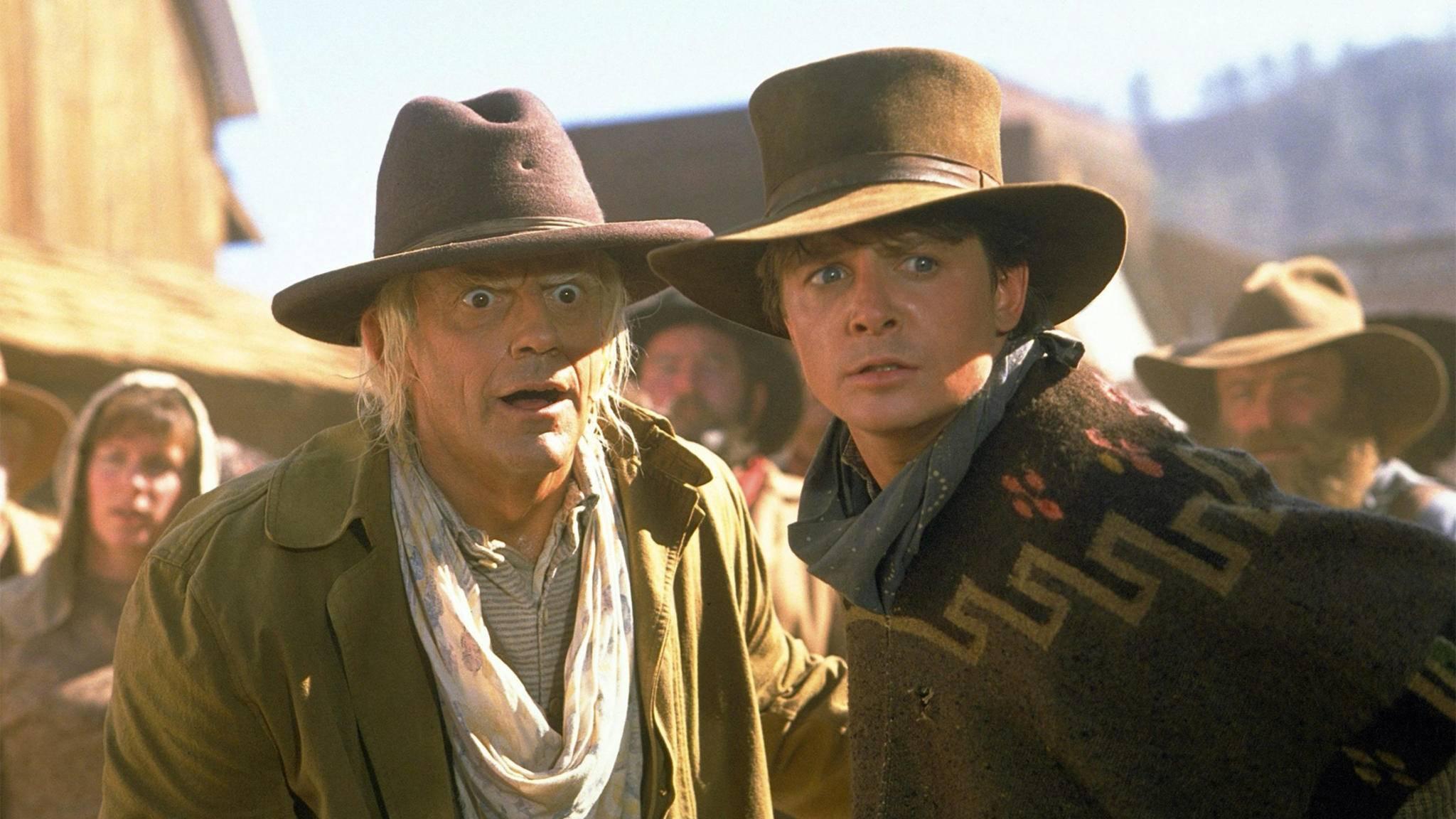 """Dass es Marty und Doc in """"Zurück in die Zukunft III"""" in den Wilden Westen verschlägt, hätte niemand erwartet."""