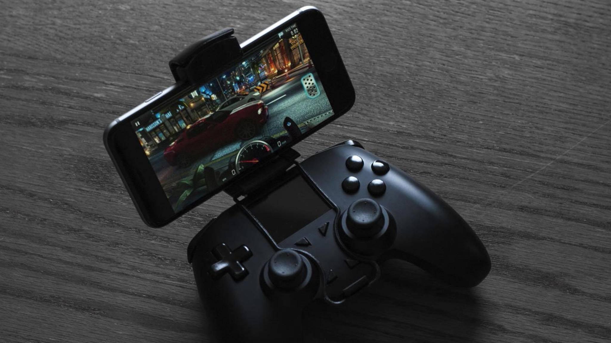 All Controller dient auch als Steuerung für iPhones oder Android-Smartphones.