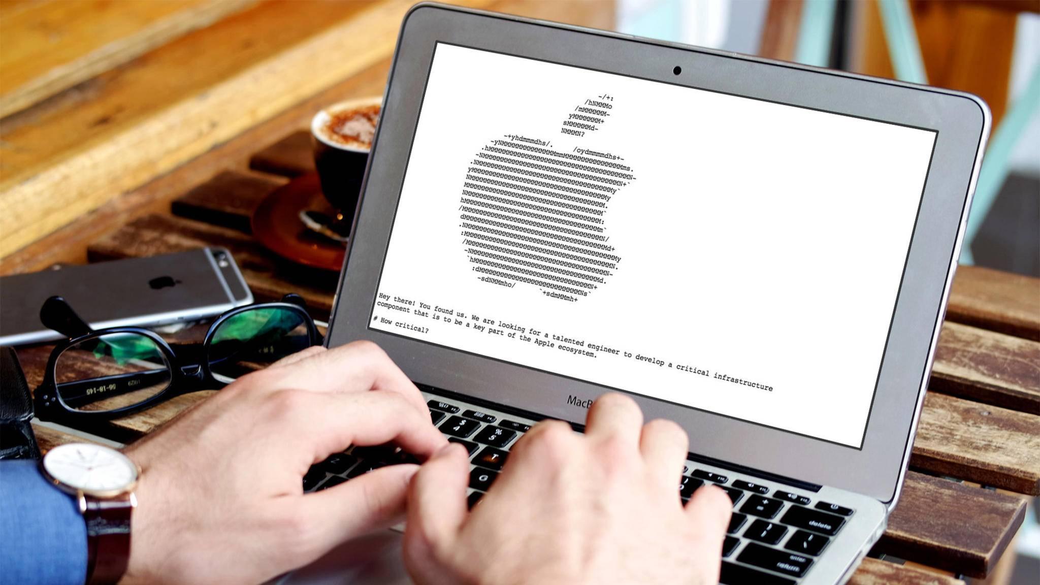Wer diese geheime Apple-Webseite gefunden hatte, konnte sich direkt bei Apple für einen Job als Programmierer bewerben.
