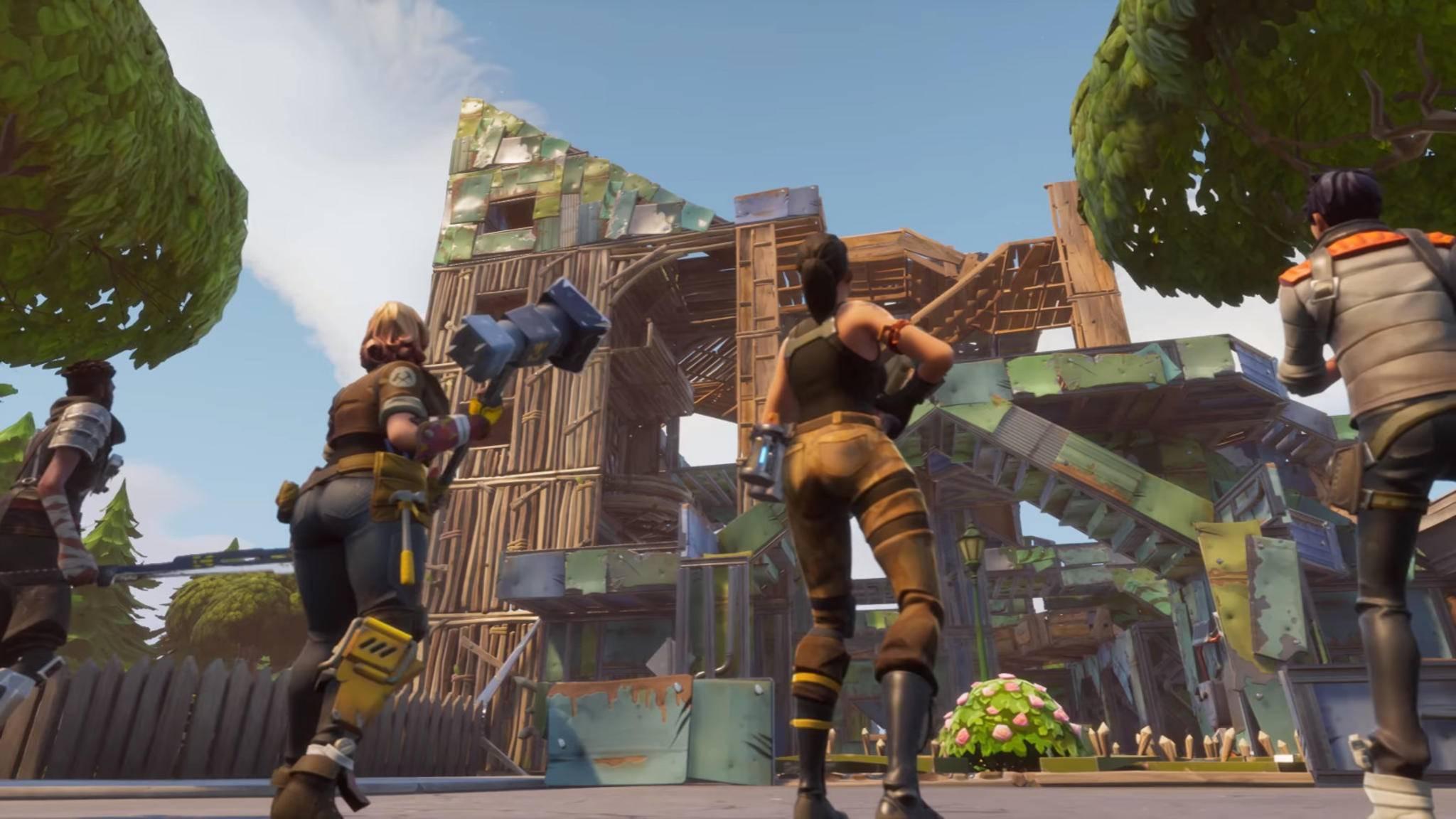"""Kurzes Vergnügen: Dank eines fehlers konnten PS4- und Xbox-Spieler kürzlich zusammen """"Fortnite"""" spielen."""