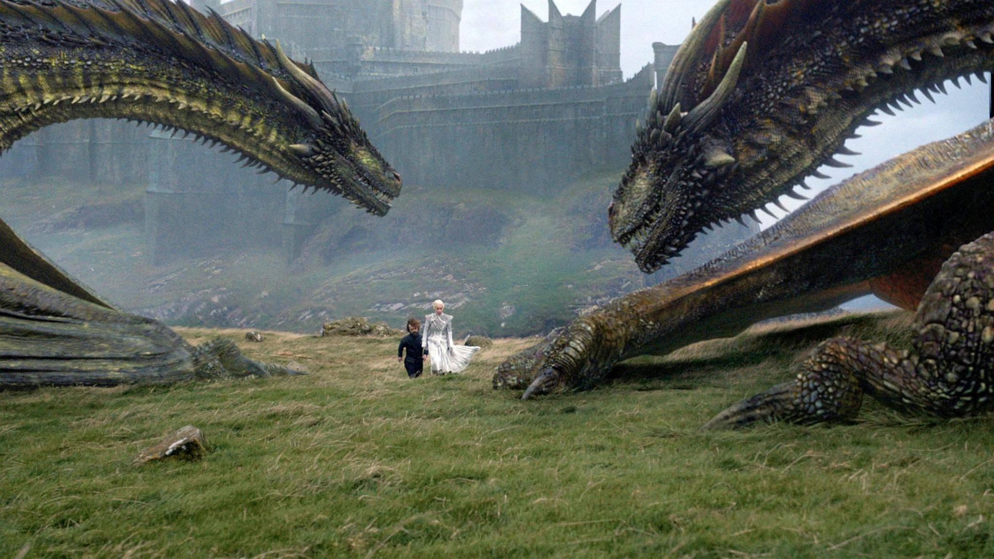 """Daenerys Targaryen hat in der siebten """"Game of Thrones""""-Staffel ihre inzwischen ausgewachsenen Drachen im Gepäck."""