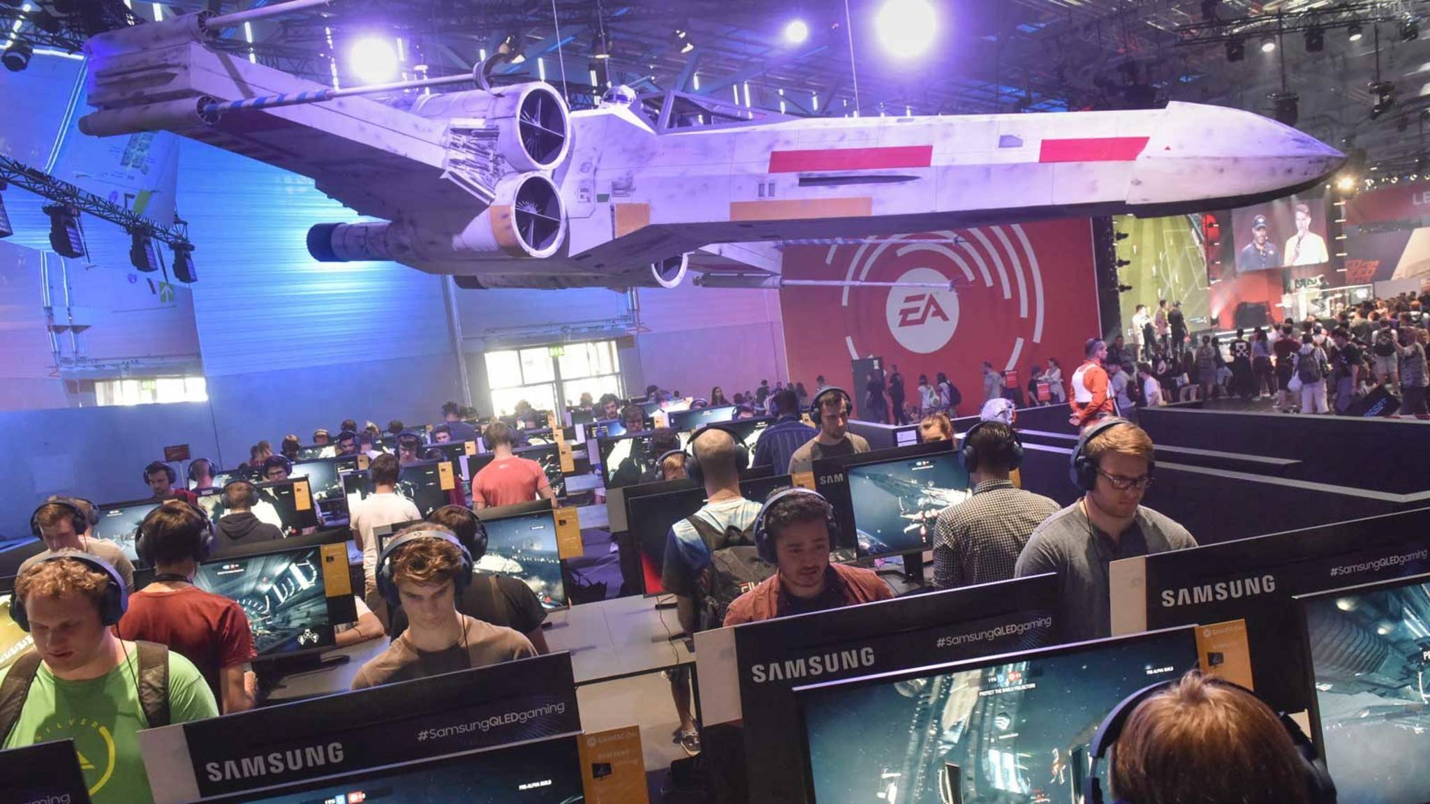 Der Stand von Electronic Arts auf der Gamescom war gut besucht.