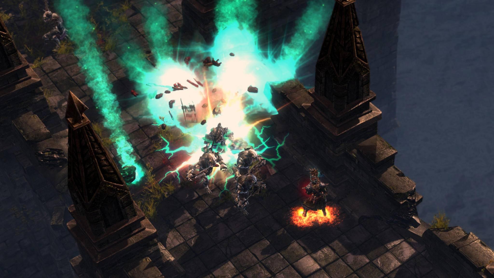 """Allein gegen die (Unter-)Welt: In Hack-and-Slay-Games wie """"Grim Dawn"""" stehen die Zahlen klassischerweise sehr zu Deinen Ungunsten. Dafür hat Dein Held die stärkeren Zauber!"""