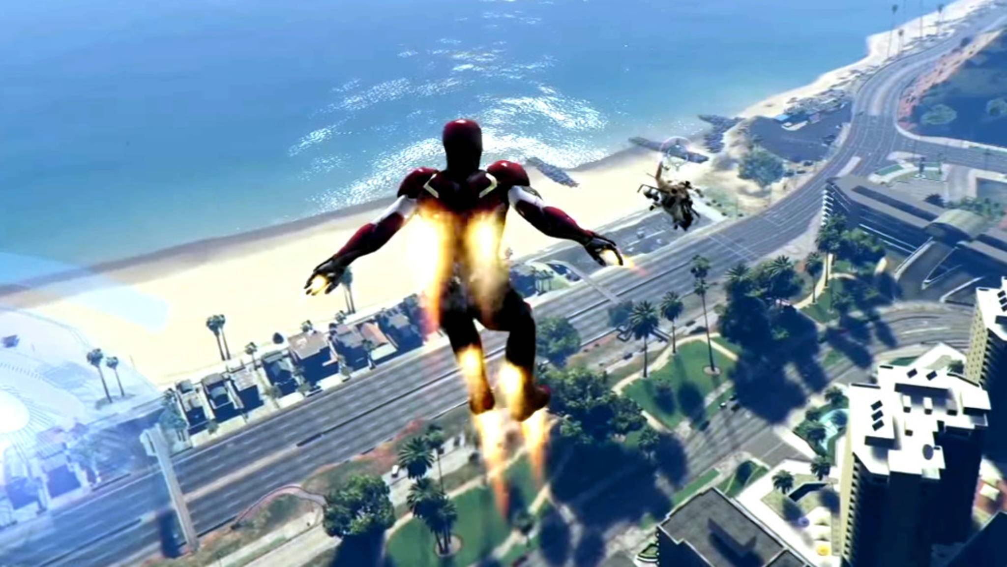 Als Iron Man über Los Santos schweben? Mit dem richtigen Mod gar kein Problem!