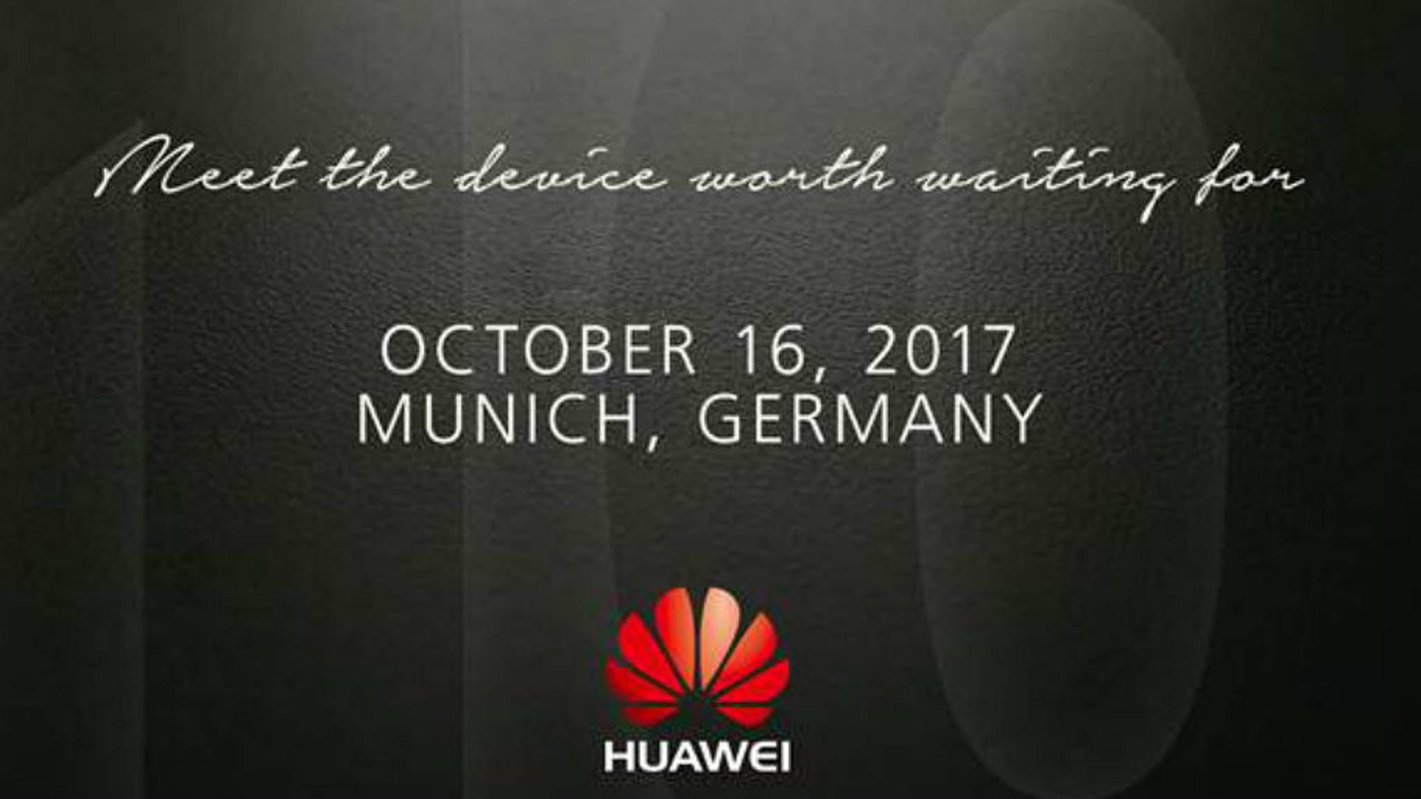 Der Launch-Termin für das Huawei Mate 10 steht fest.