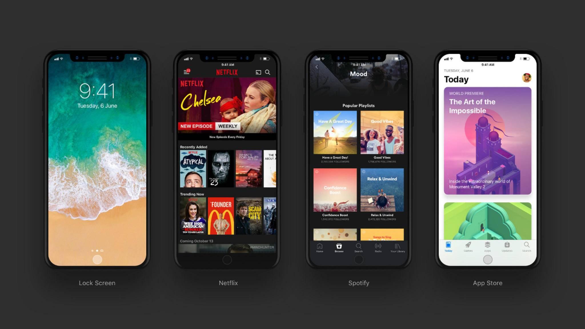 Apples Flaggschiff mit randlosem OLED-Panel soll passend zum Jubiläum den Namen iPhone X tragen.