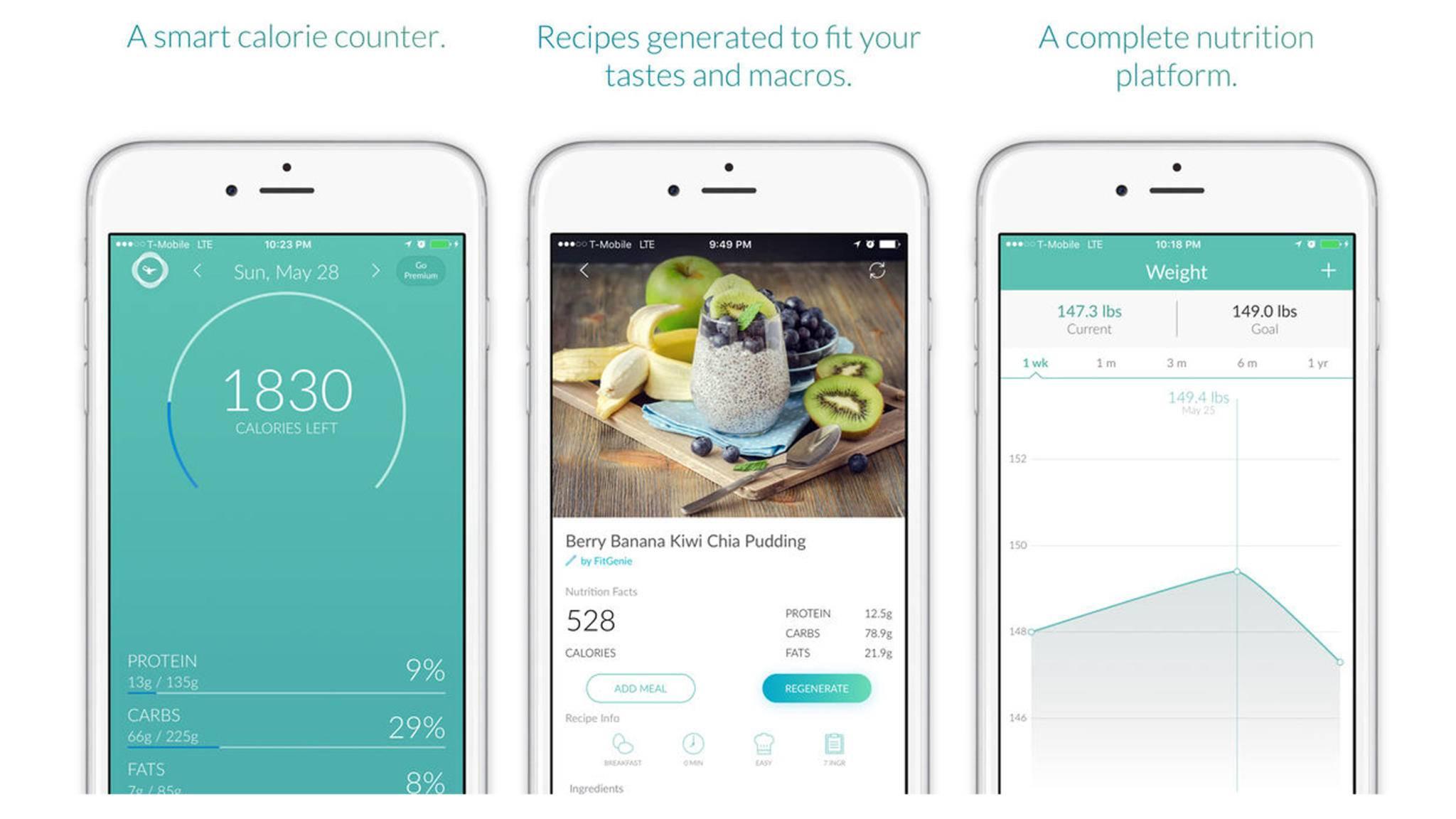Die App FitGenie will mehr sein als eine Kalorienzähler-App.