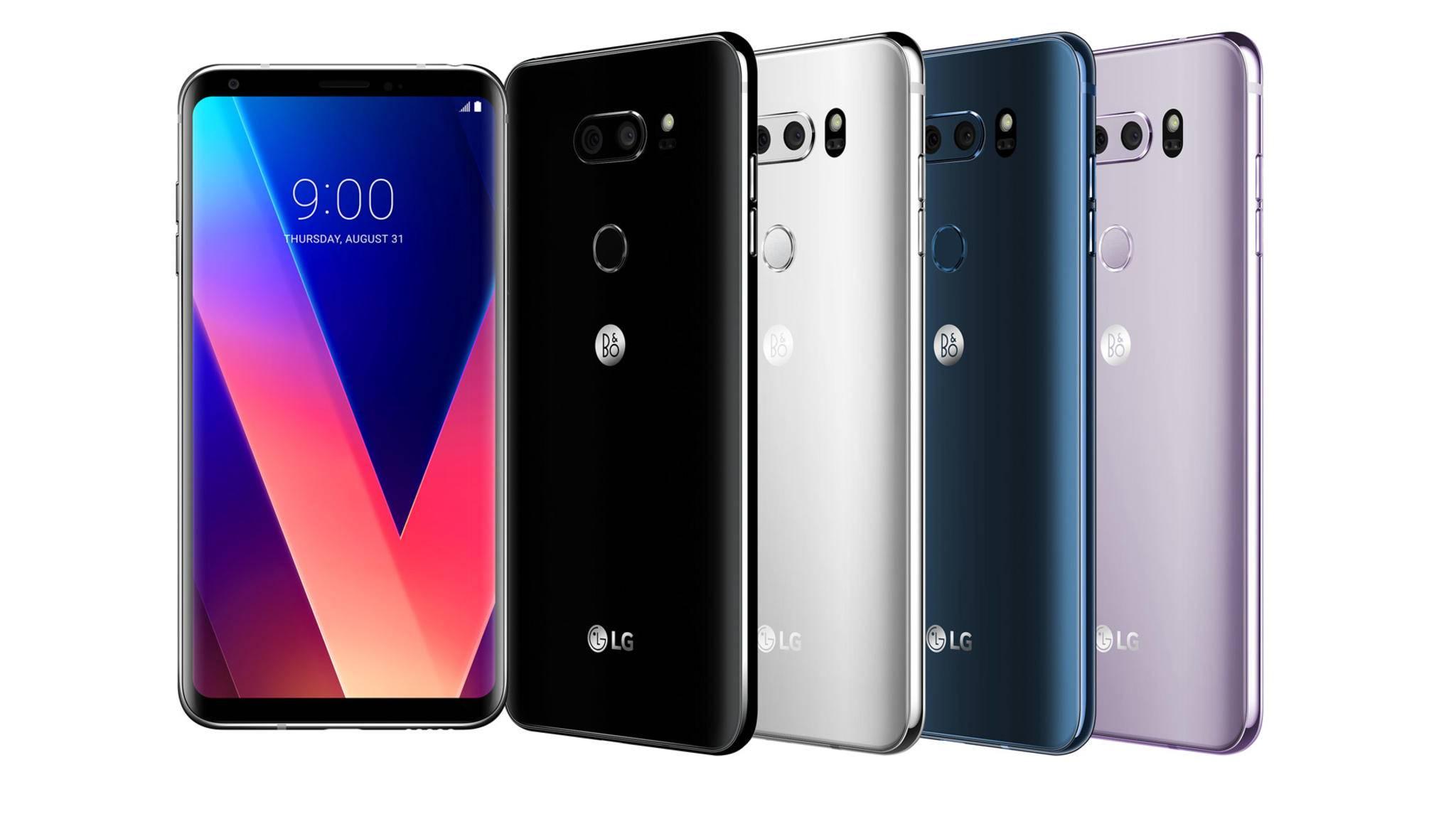 So sieht das neue Smartphone-Flaggschiff von LG aus.