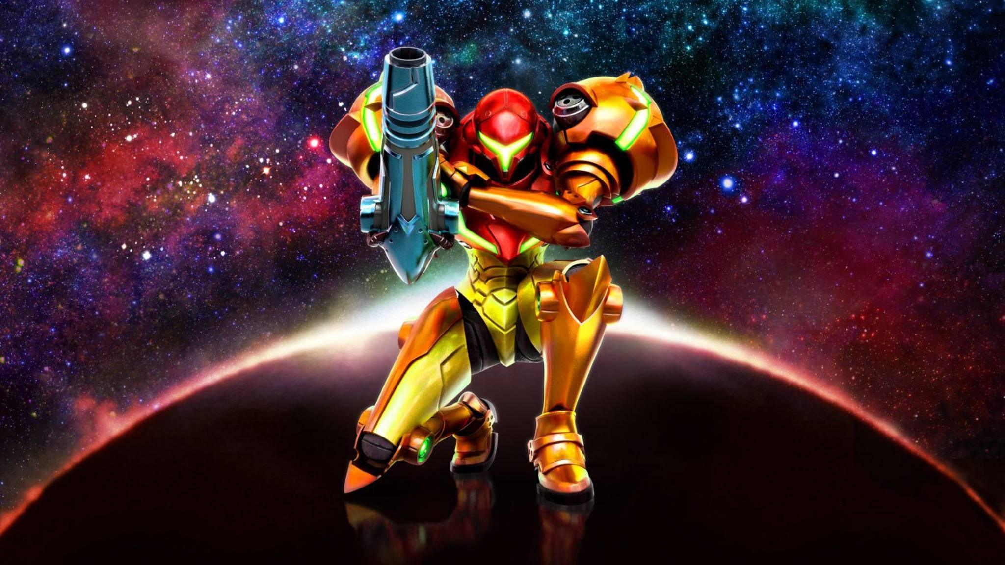 """Samus Aran hat schon einige Jahre auf dem Buckel. Das Cover von """"Metroid: Samus Returns"""" würdigt die Videospiel-Ikone."""
