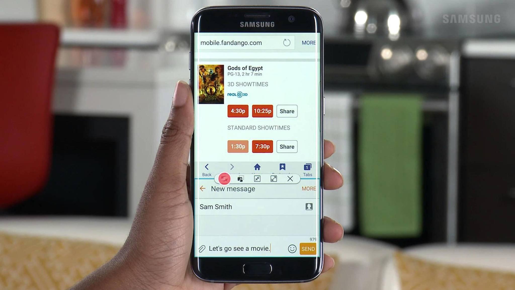 Auf Samsung-Smartphones kannst Du mit Multi Window im Handumdrehen zwei Apps untereinander darstellen.