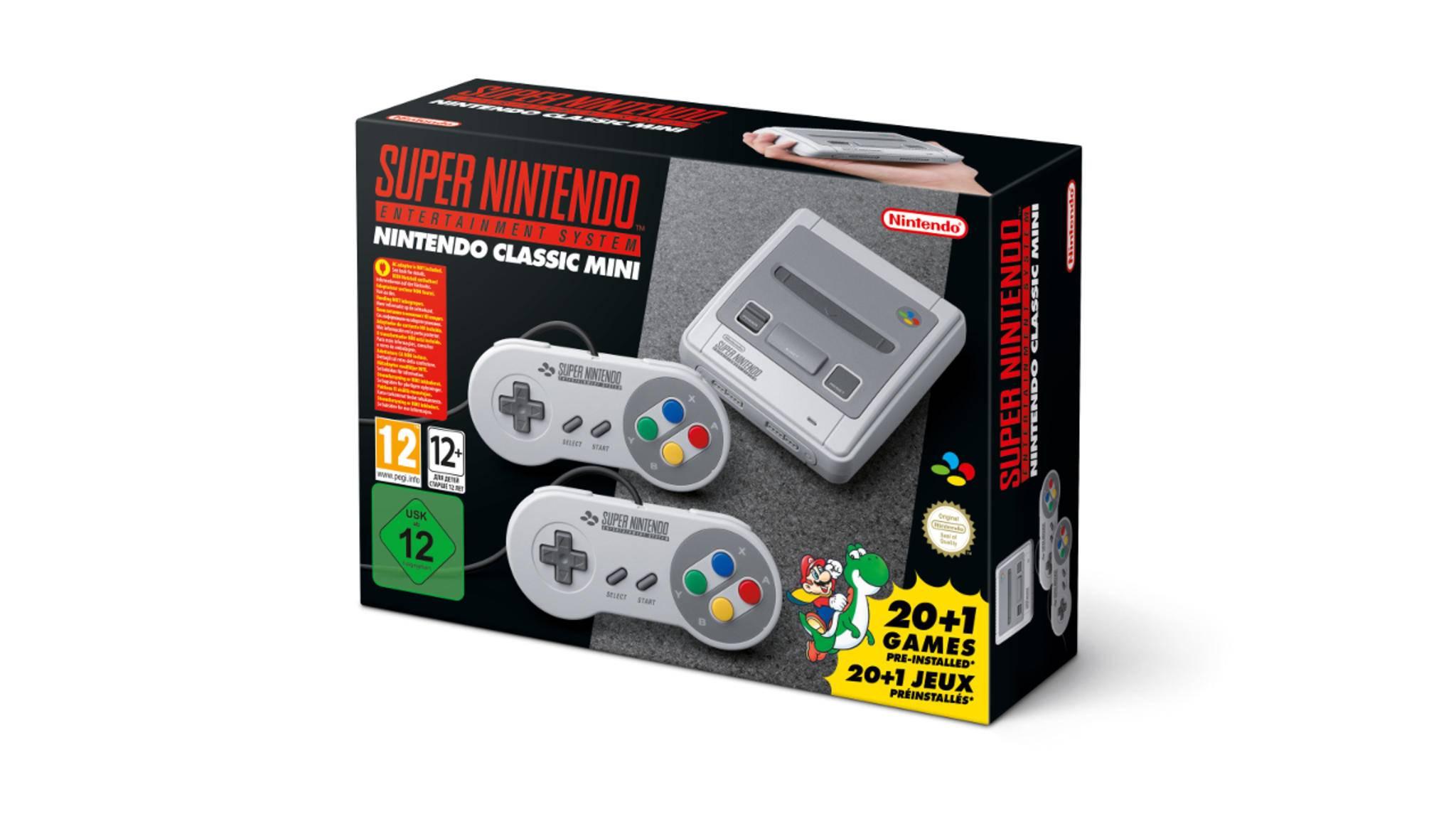Mit zwei Controllern kommen mit der SNES Classic Mini auch Mehrspieler-Nostalgiker auf ihre Kosten.
